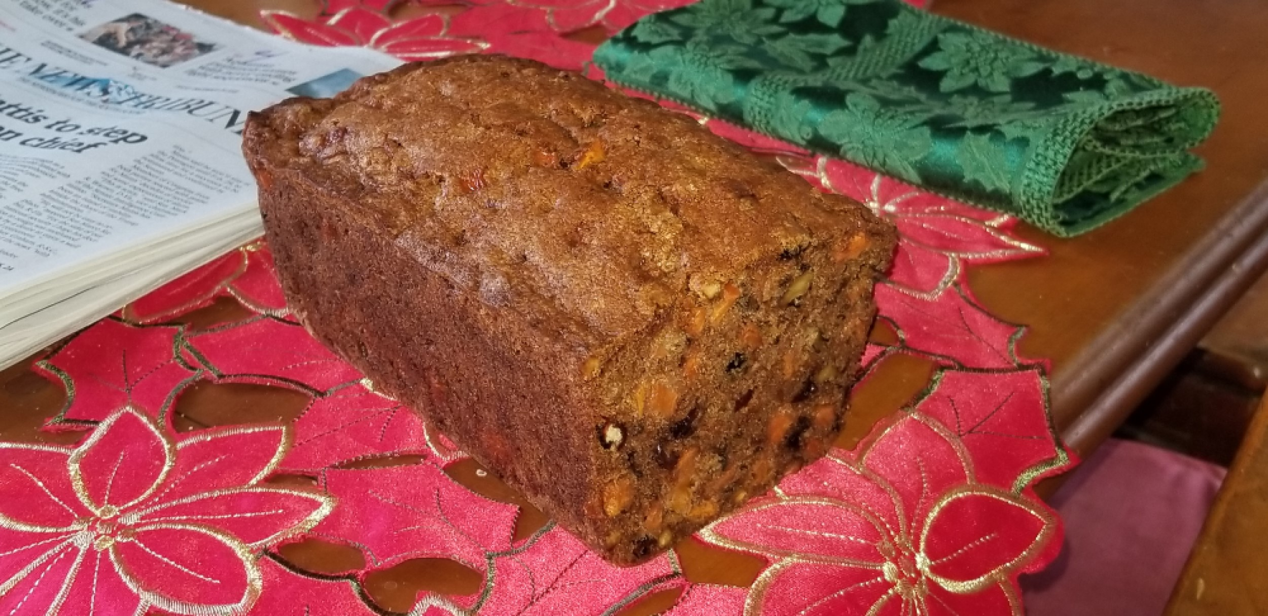 Christmas Cranberry-Persimmon Loaf Peach McD