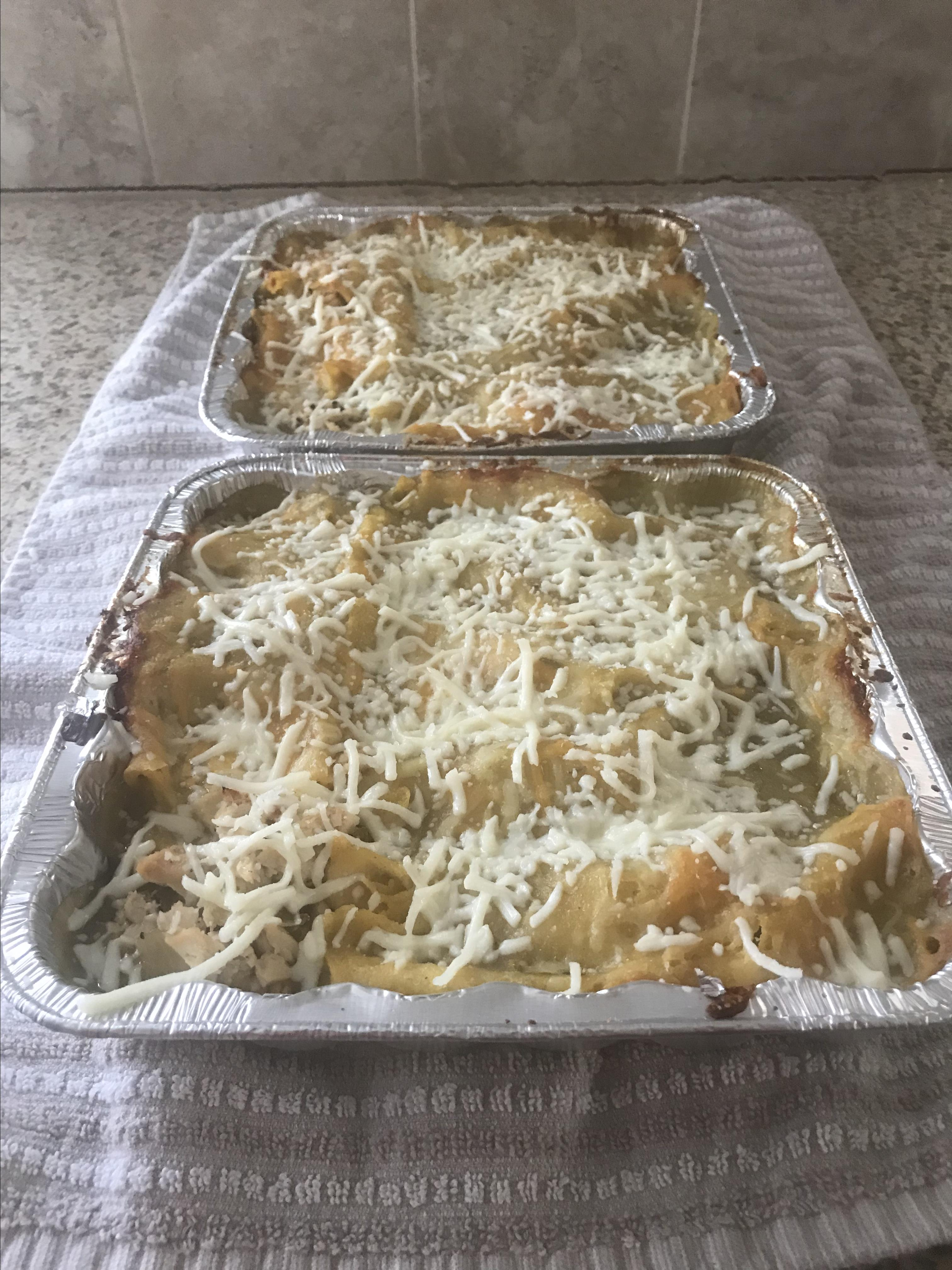 Green Chile Stacked Enchiladas Brian