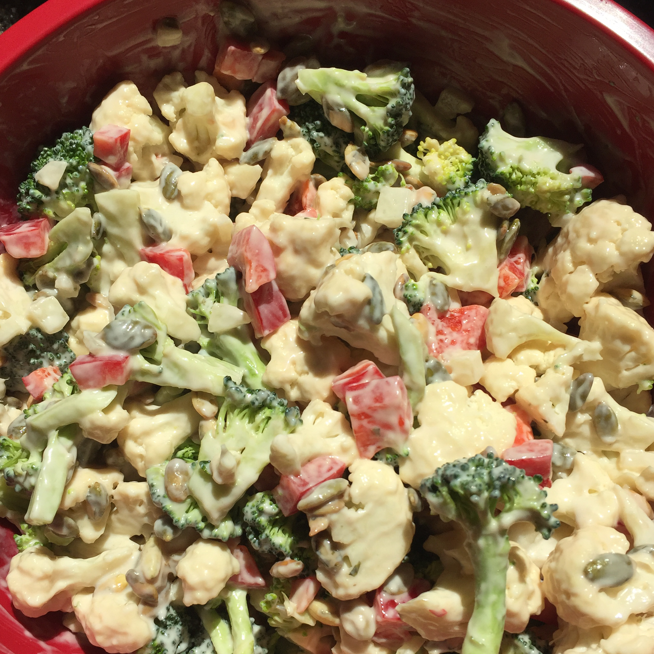 Broccoli Cauliflower Pepita Salad