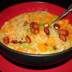 Quinoa with Sweet Potatoes and Broccoli Bethany Giles