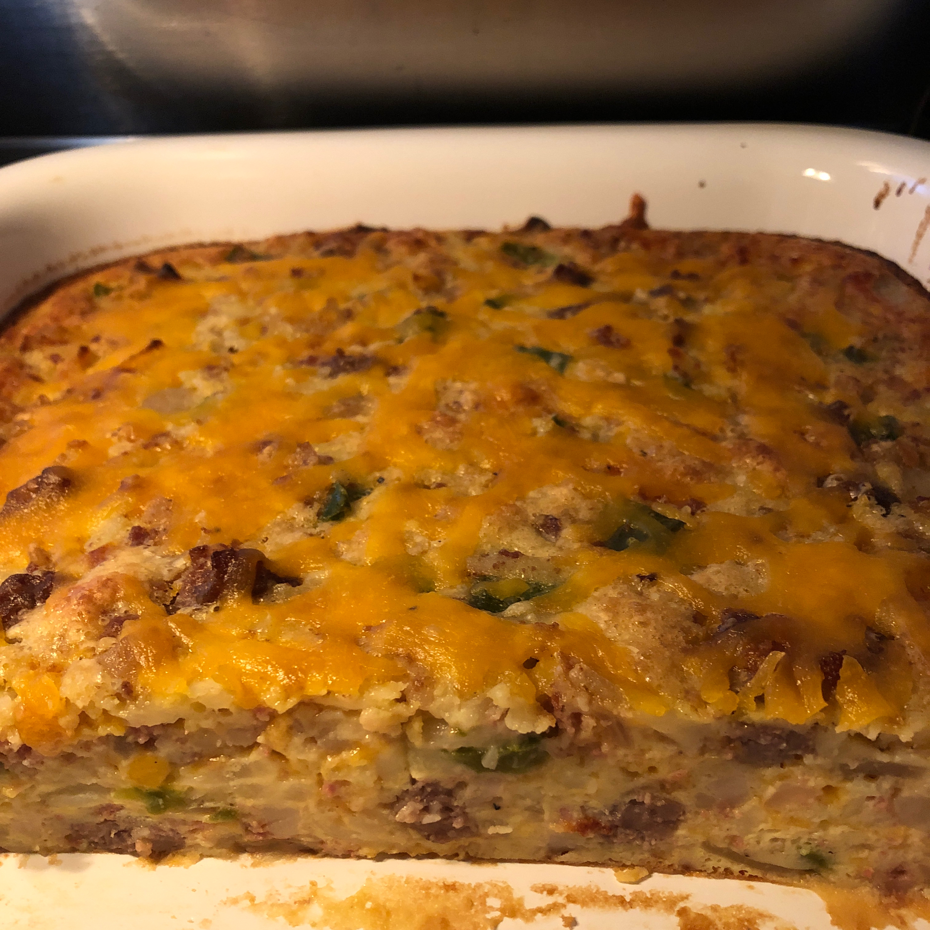 Impossibly Easy Breakfast Bake (Crowd Size) Sasssy