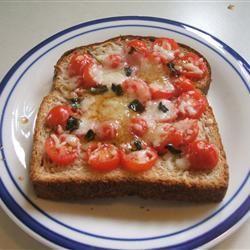Open Face Mozzarella Sandwich