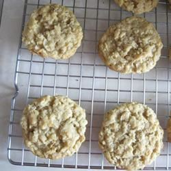 Chewy Crispy Coconut Cookies