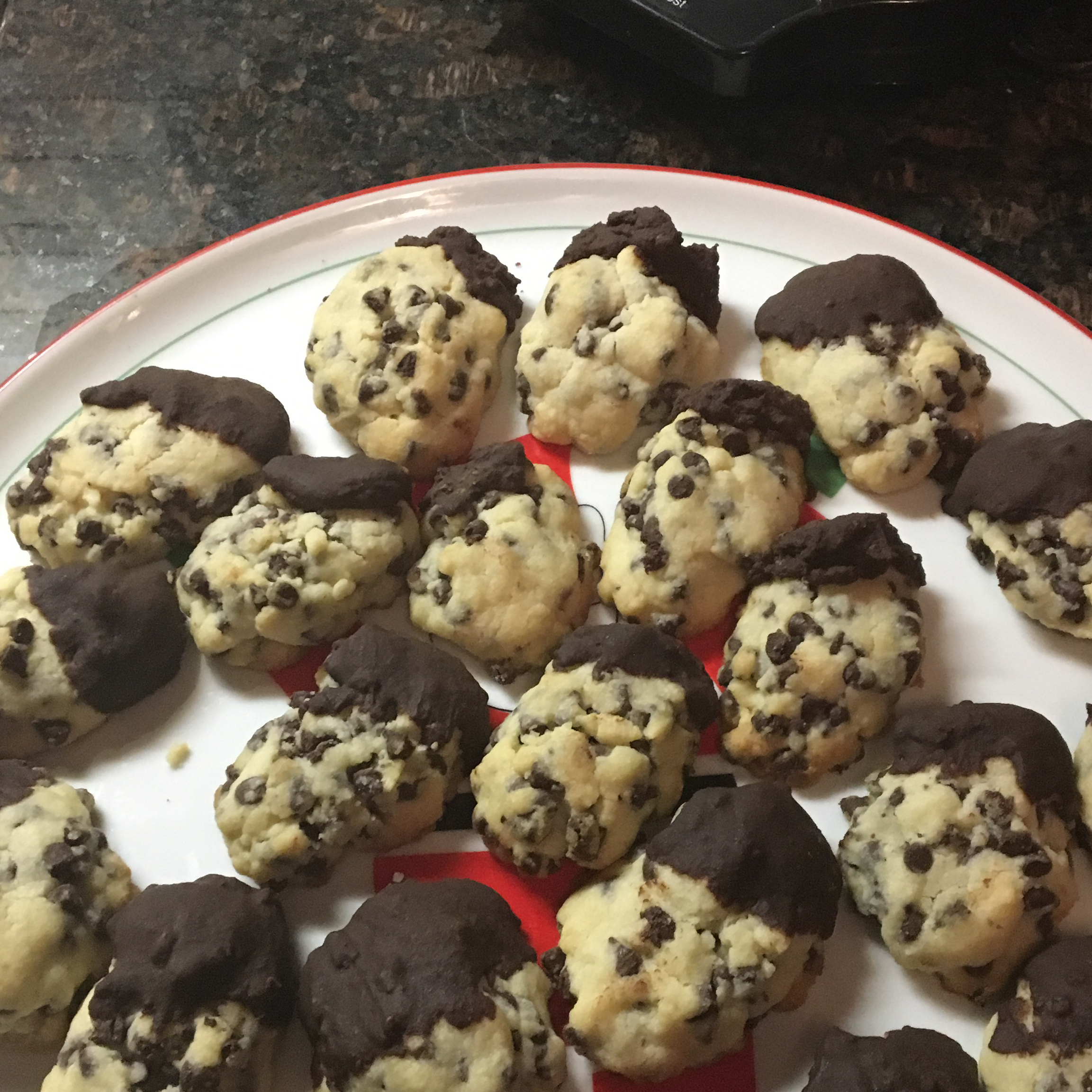 Mini Chocolate Chip Shortbread Cookies Susan Kealey