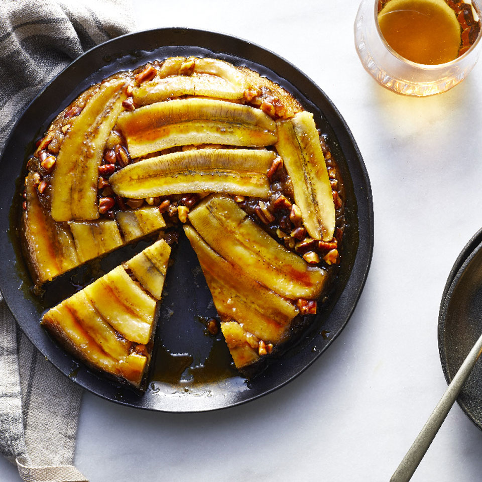 The tableside flambéing of bananas Foster sure is impressive ... if someone else is making it for you. This cake has all the flavors of the New Orleans classic in easier-to-prepare cake form that's just as stunning as the original for a healthier dessert you'll be proud to serve. Source: EatingWell Magazine, January/February 2019