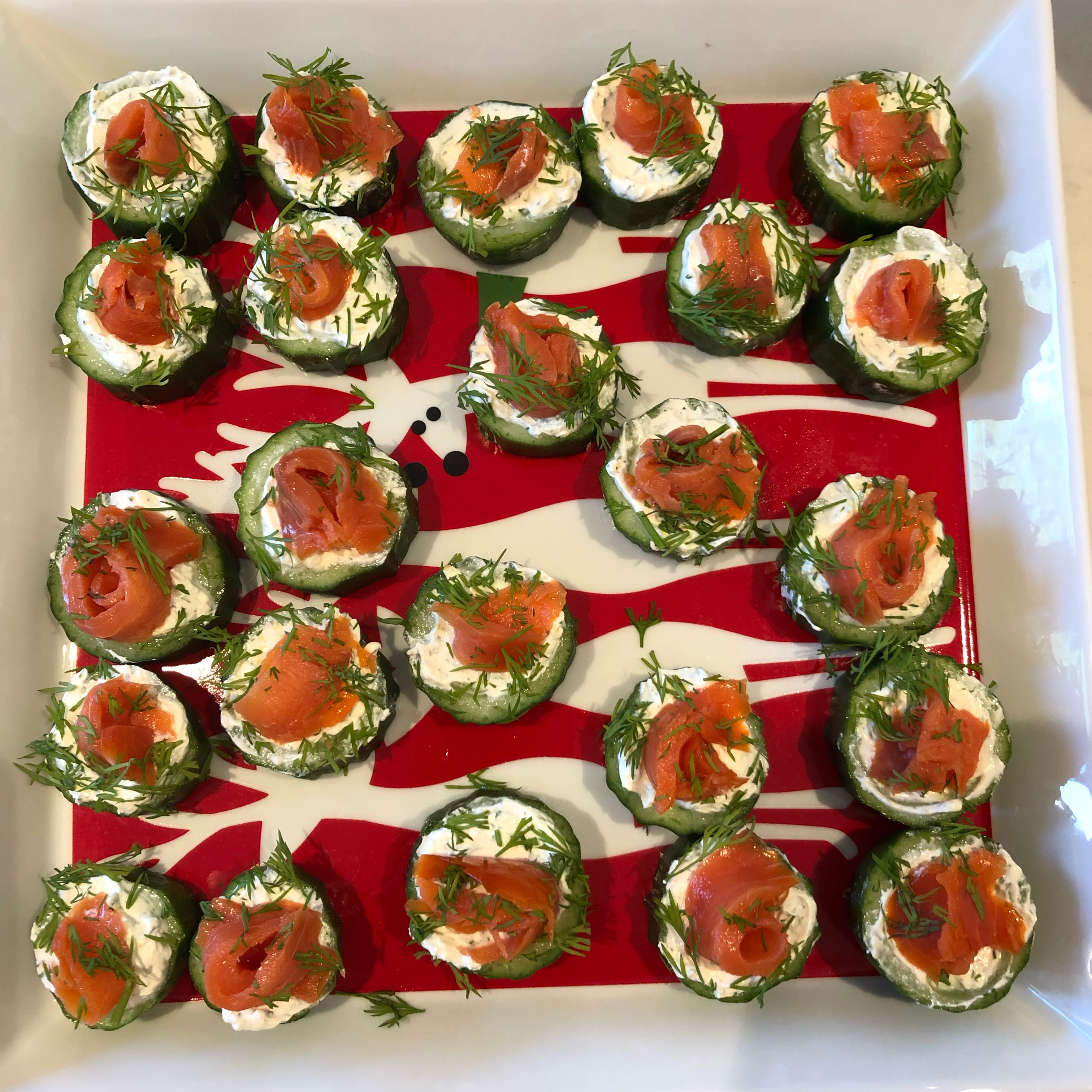 Cucumber Cups with Dill Cream and Smoked Salmon PCT