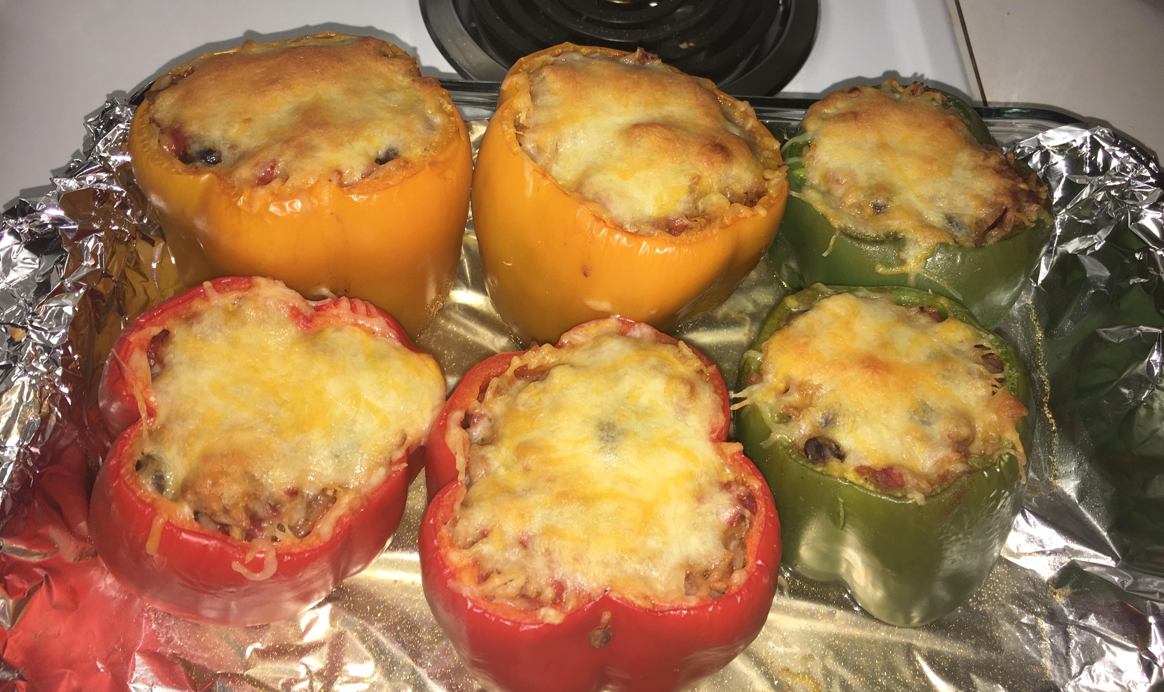Vegetarian Mexican Inspired Stuffed Peppers Renee Boone