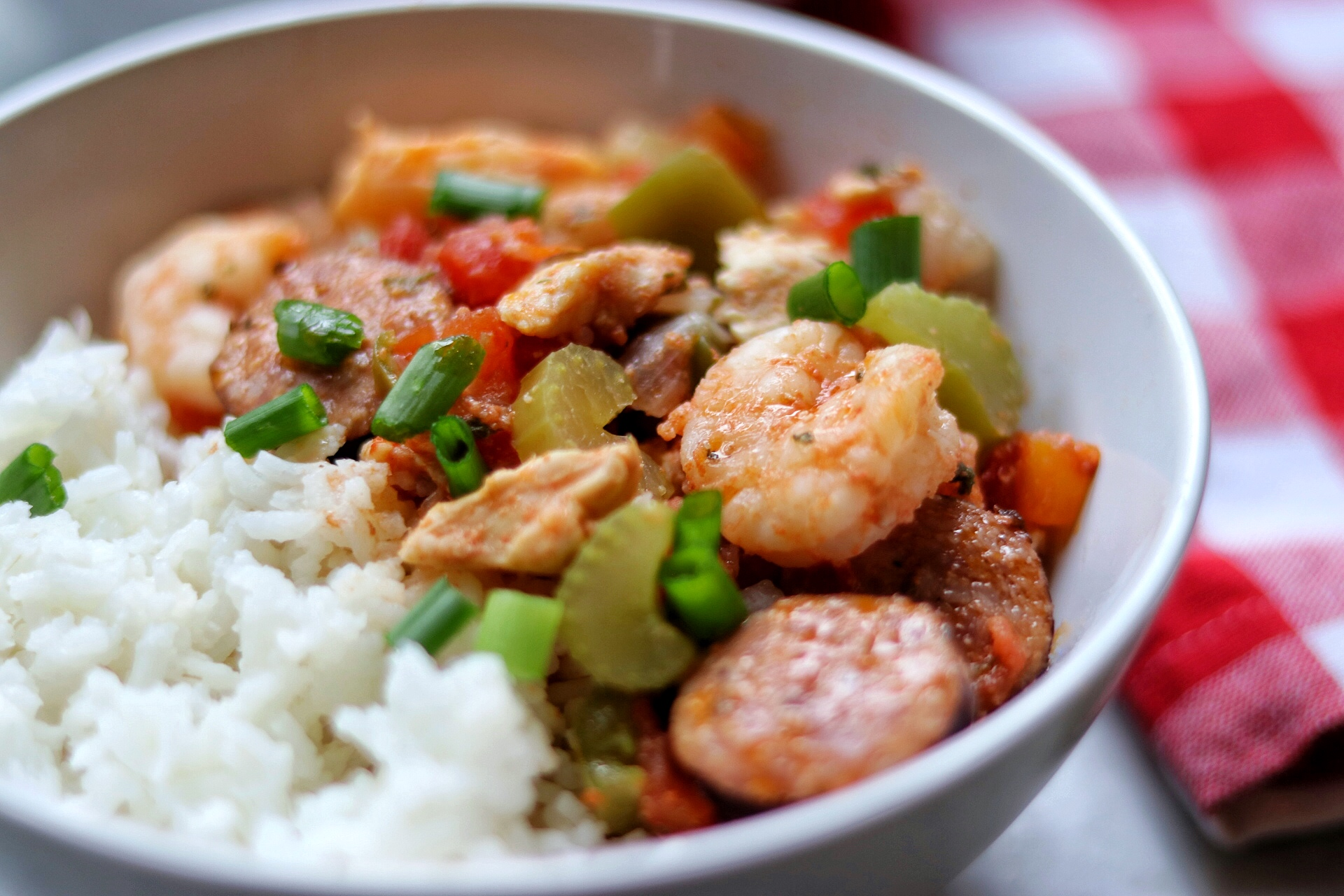 Instant Pot® Jambalaya with Shrimp and Chicken