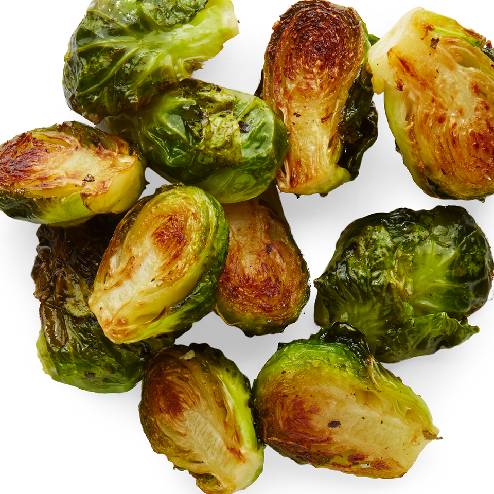 Brussels sprouts have surged in popularity recently and it's easy to understand why. They're high in nutrients while low in calories and can be prepared quickly in a variety of ways--baked, steamed, and even eaten raw! This simple side dish recipe serves up roasted sprouts seasoned with just a touch of olive oil, salt, and pepper.