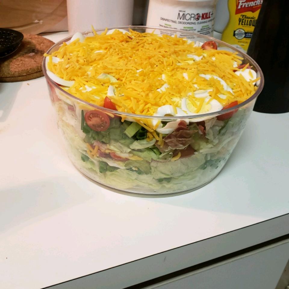 Seven Layer Mixed Up Salad awndrea