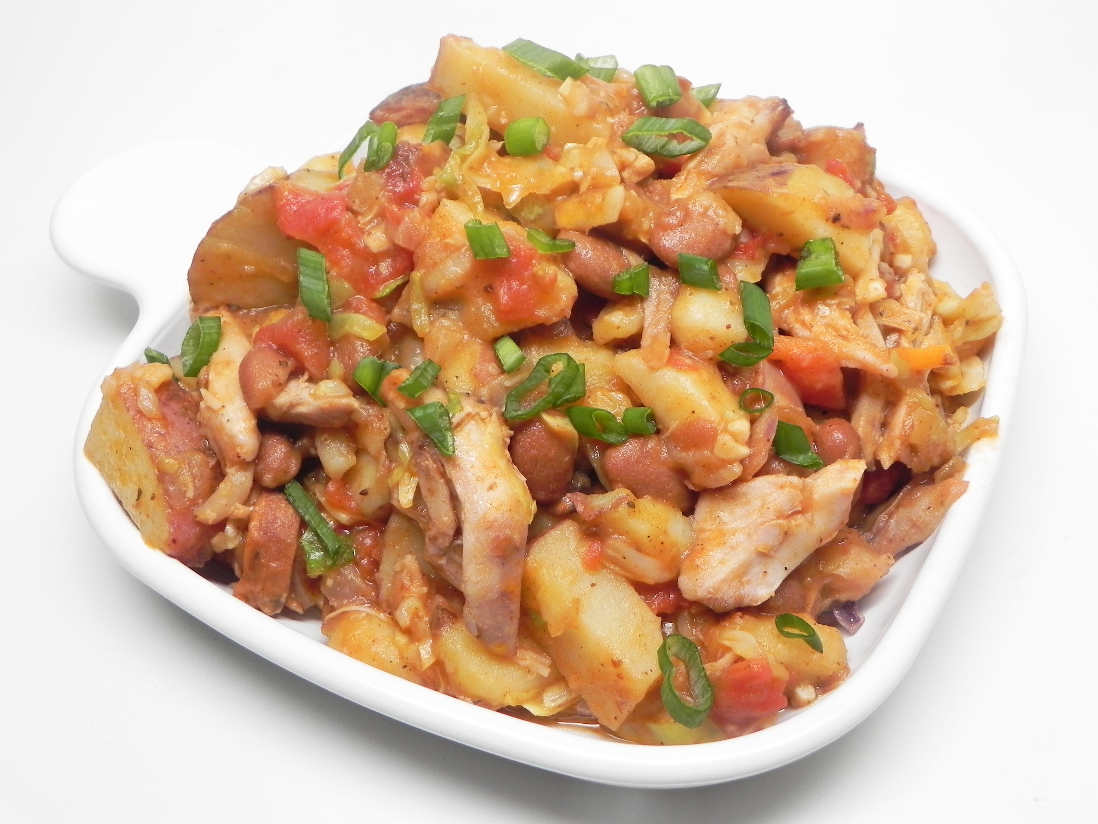 Roasted Potatoes and Smoked Turkey Legs