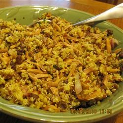 Curried Citrus Quinoa with Raisins and Toasted Almonds toastyfrenchy