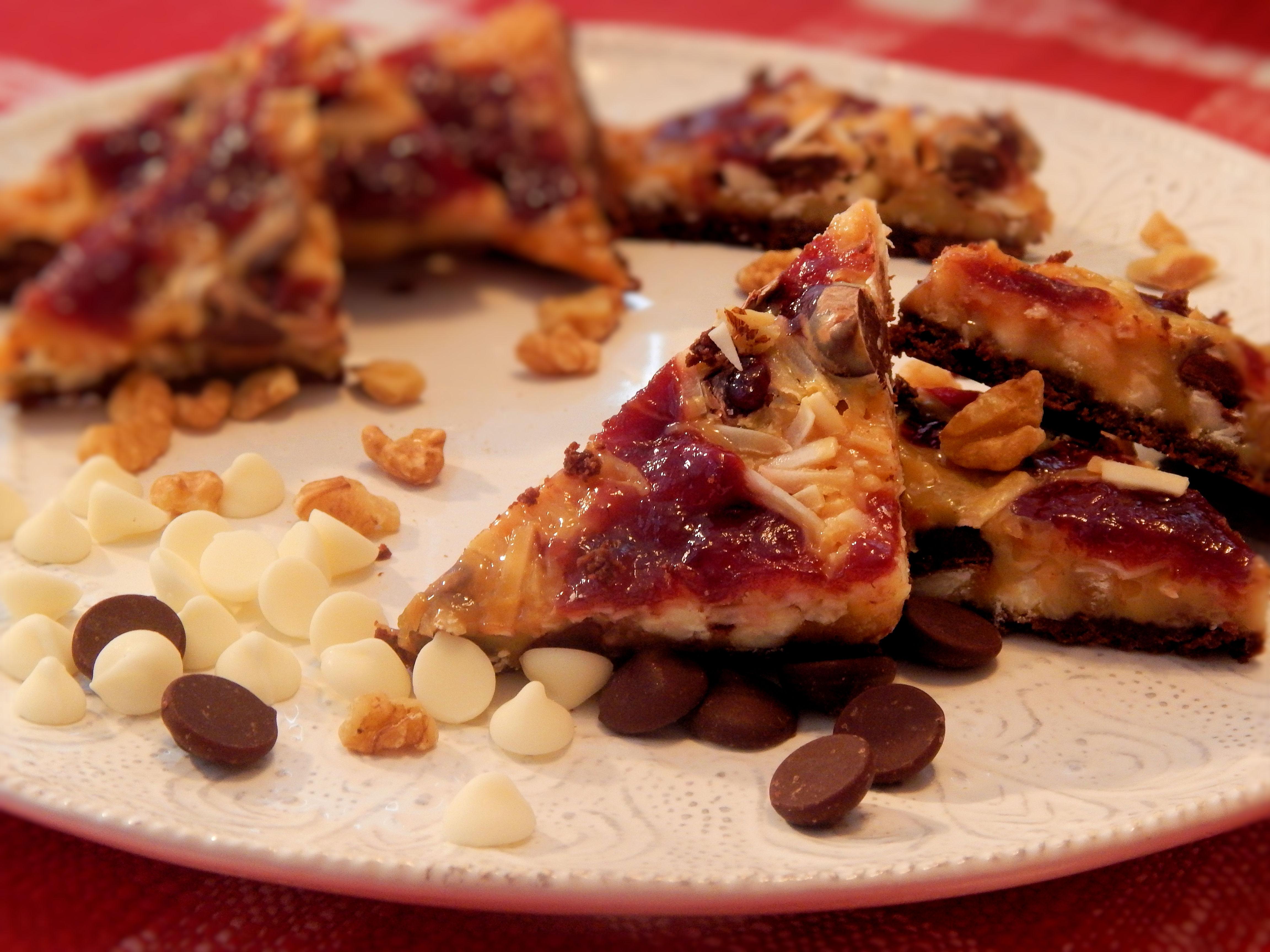 Chocolate Raspberry Magic Cookie Bars Lisa Mayer Kaelblein