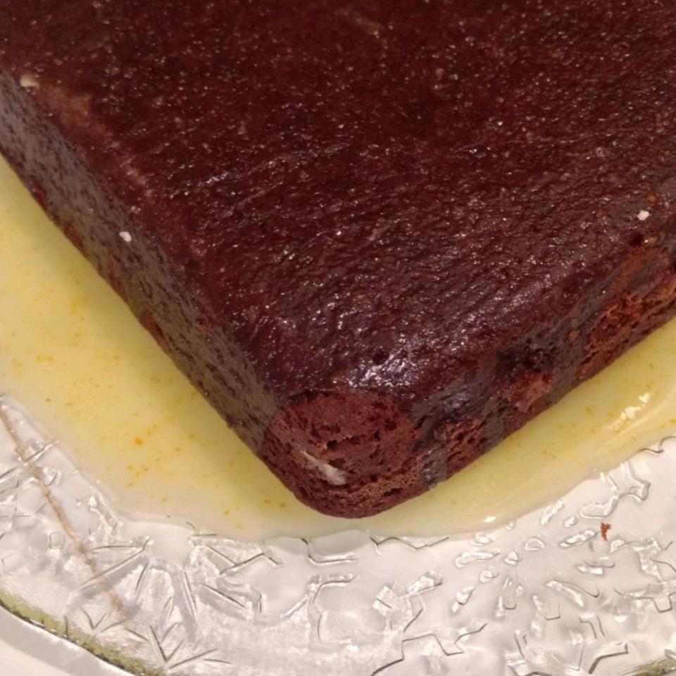 Gingerbread Cake with Lemon Glaze Heather Brooks