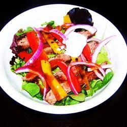 Grilled Fajita Steak Salad With Pickled Pink Onions Baasinator