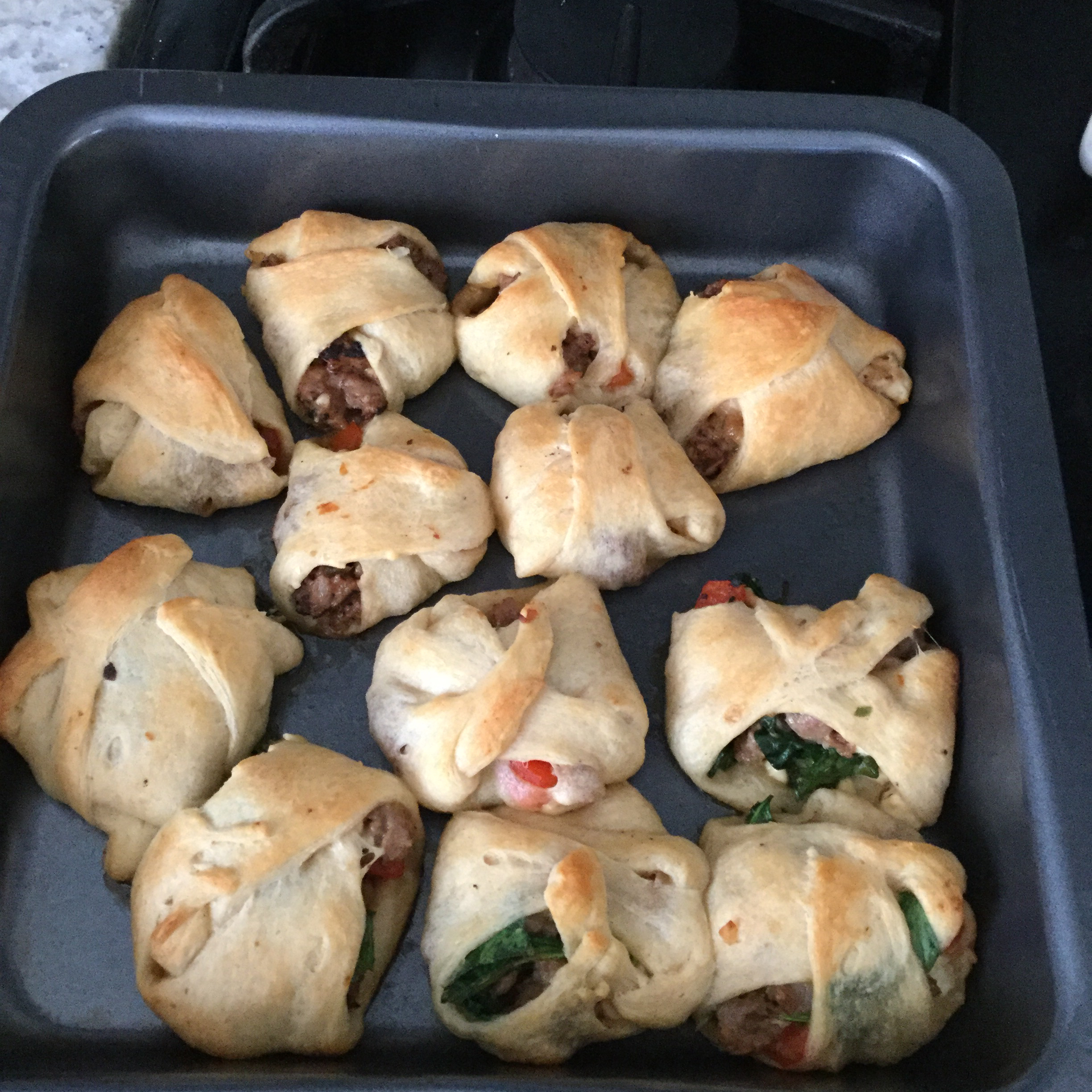Sausage and Feta Crescent Roll Christmas Tree kimrap13
