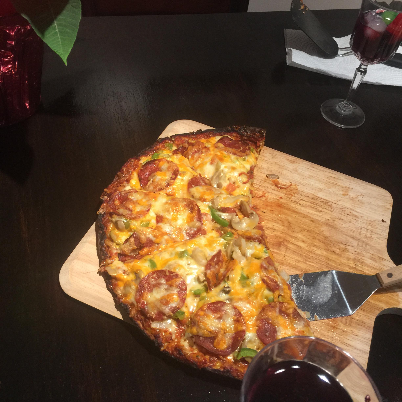 Cheesy Cauliflower Pizza Crust