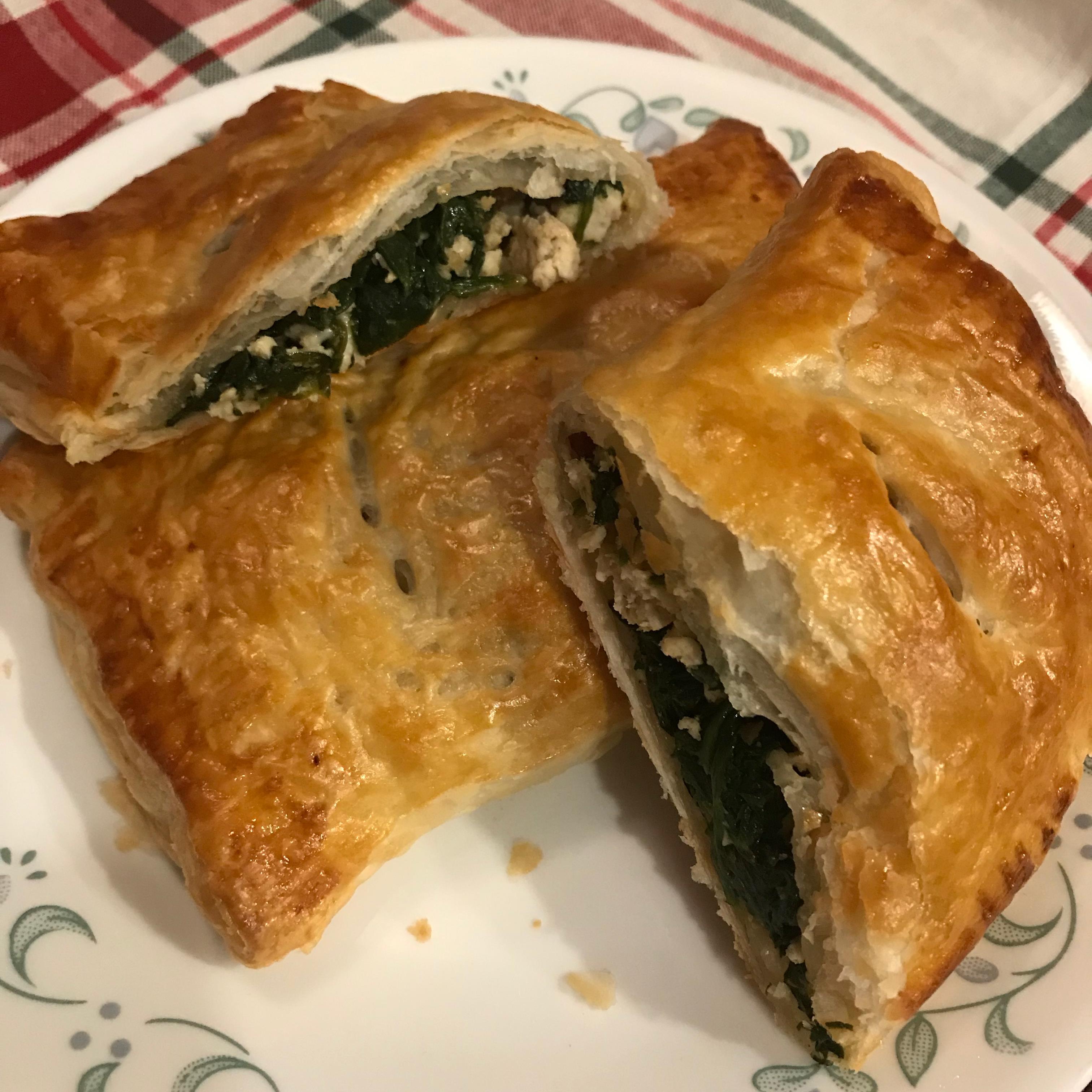 Chicken Spinach Feta Puff Pastry Pockets Pam Ziegler Lutz