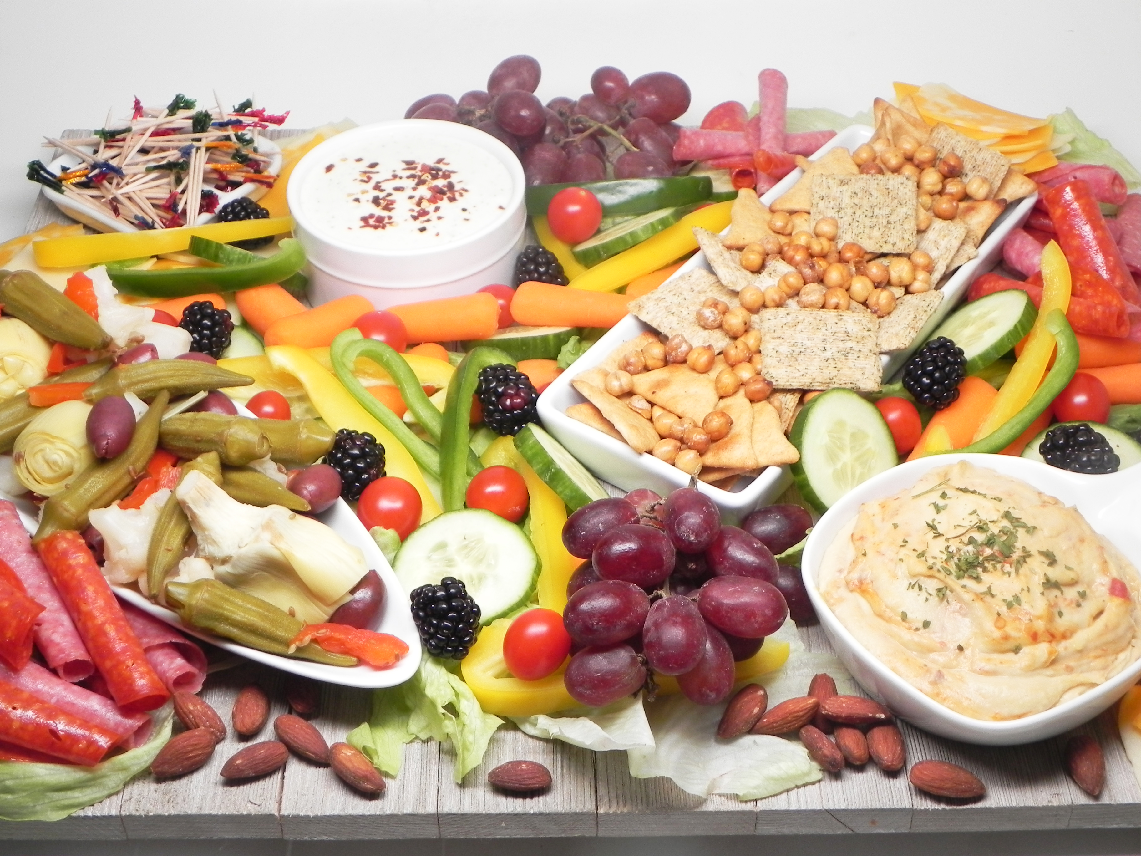 The only rule for making this Greek-inspired snack board? There are no rules. Pair Soup Loving Nicole's yogurt-feta dip with your favorite fruits and veggies to customize your own photo-worthy spread.