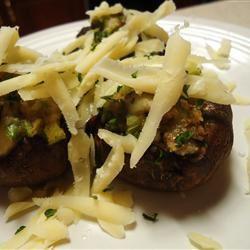 Cheese Stuffed Mushroom Appetizer hungryallweighs