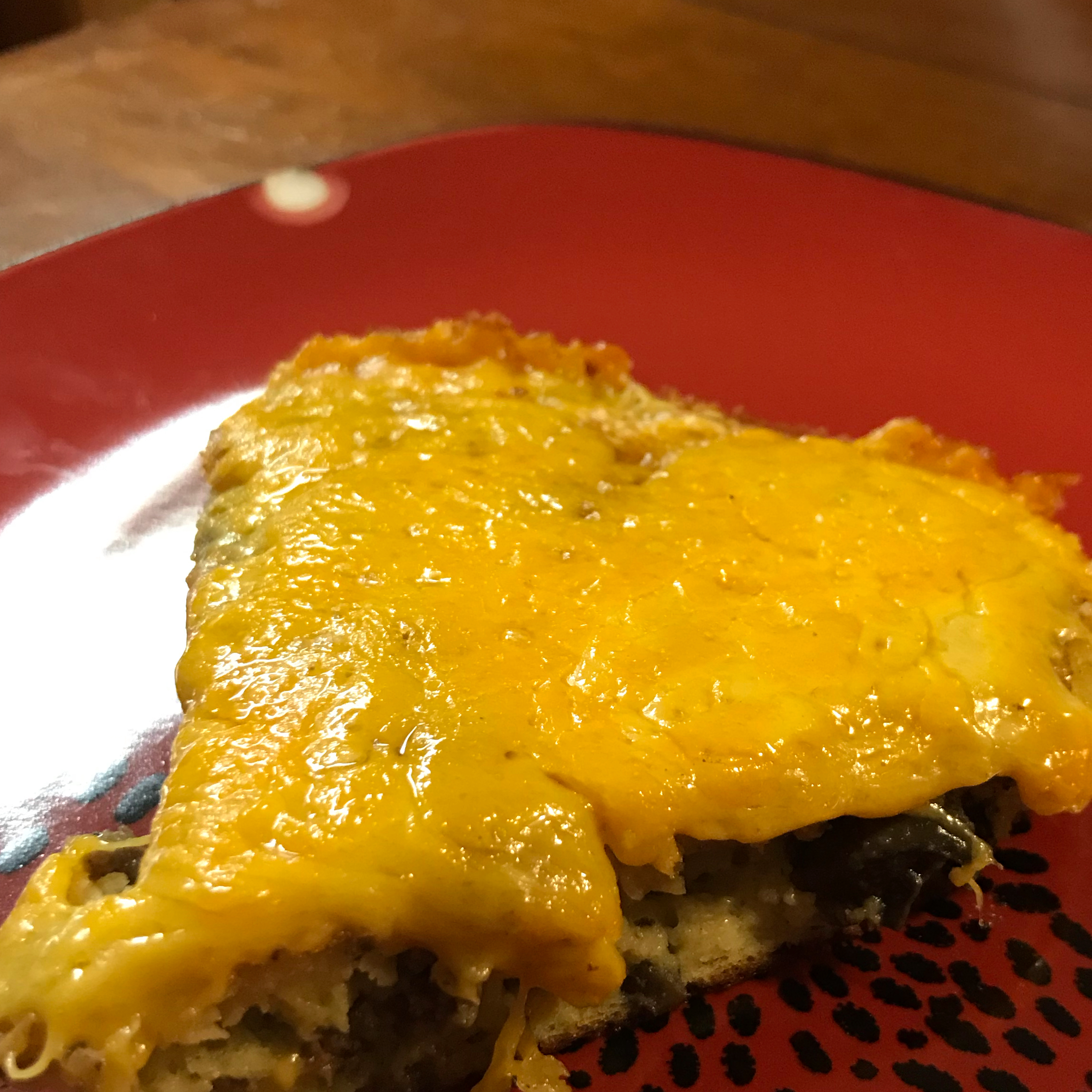 Impossible Cheeseburger Pie bwest789
