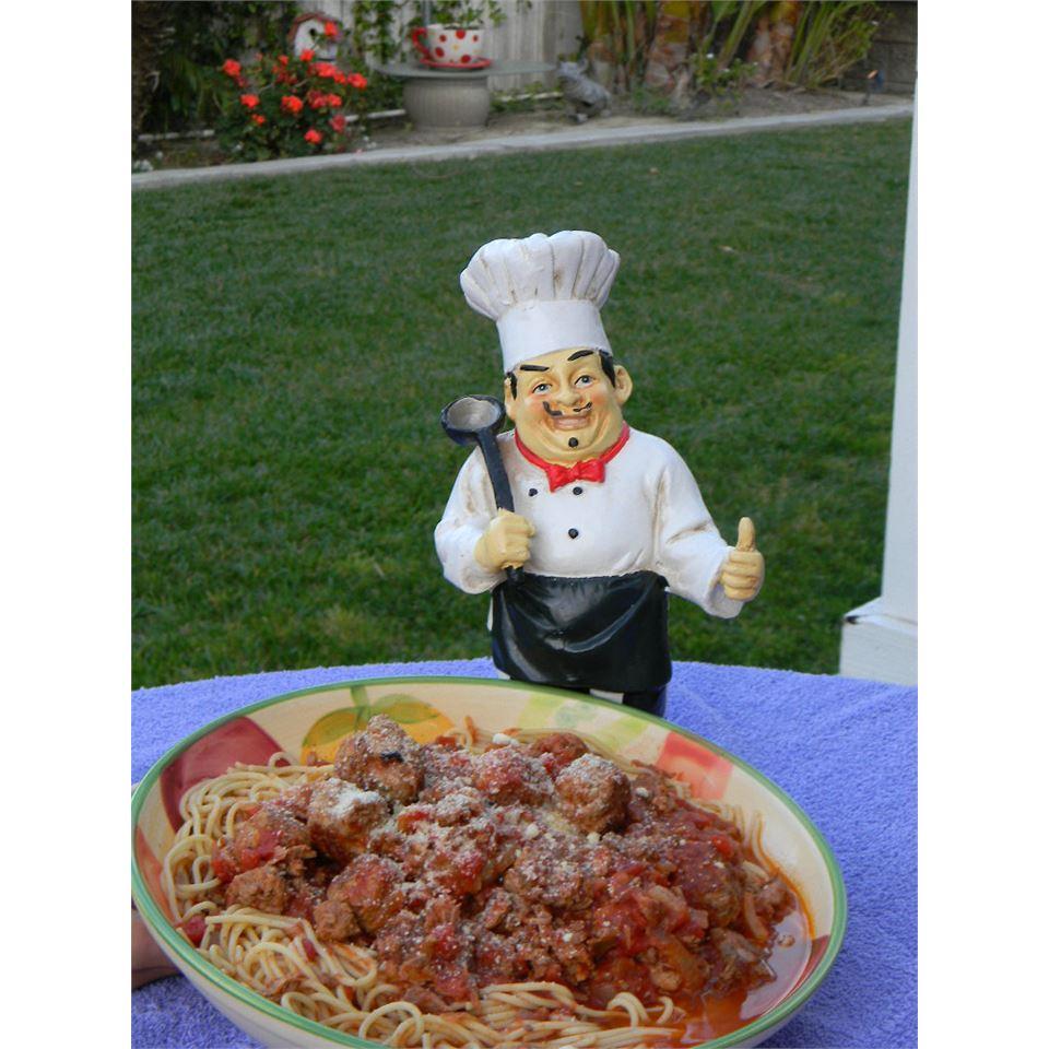 Family Sicilian Sauce and Meatballs Baking Nana
