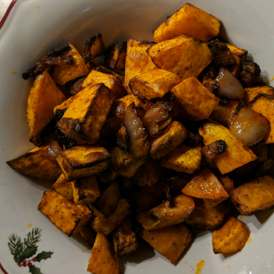 Air Fryer Sweet Potato Hash Shabadeux