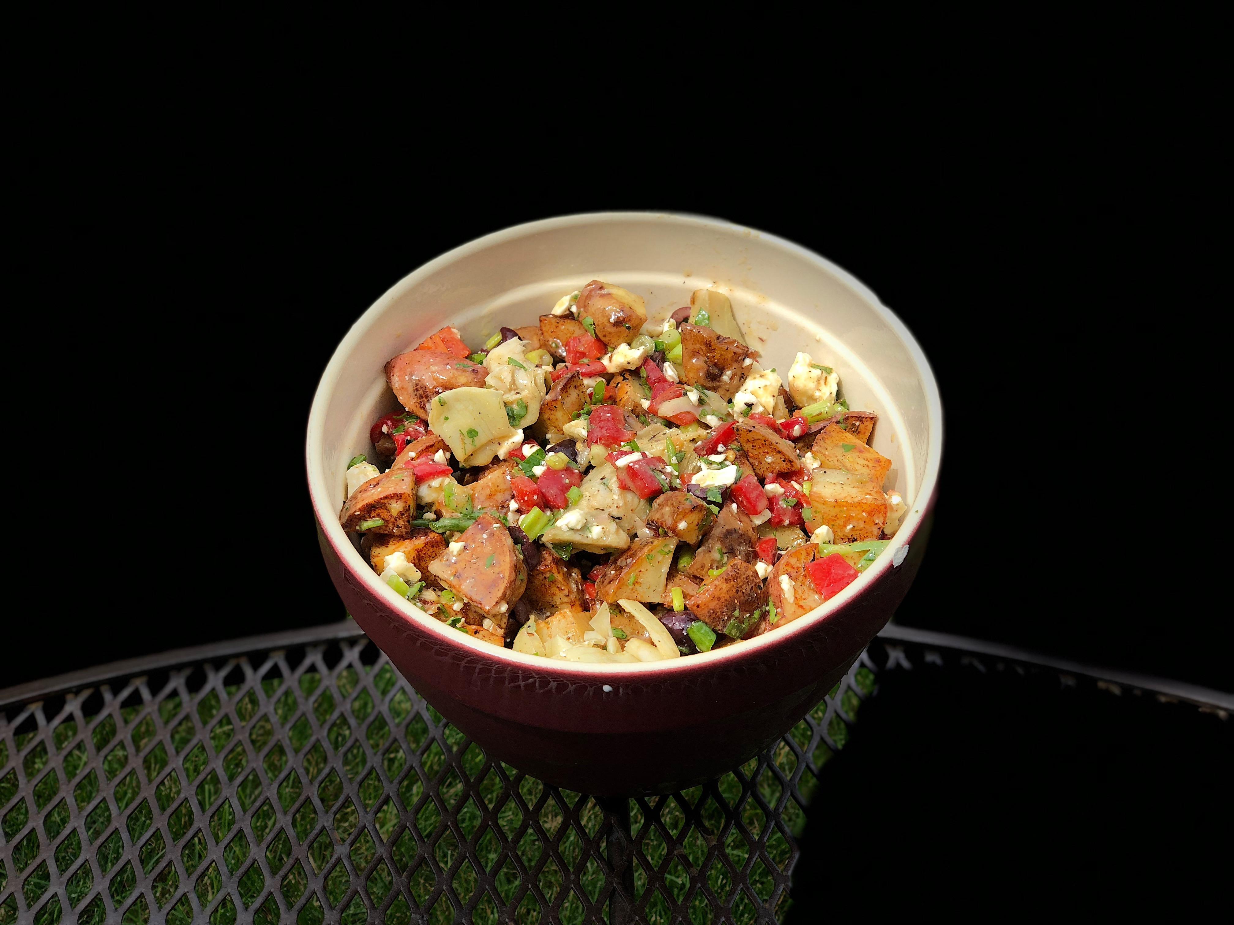 Roasted Potato Salad with Balsamic Dressing Josh Mika