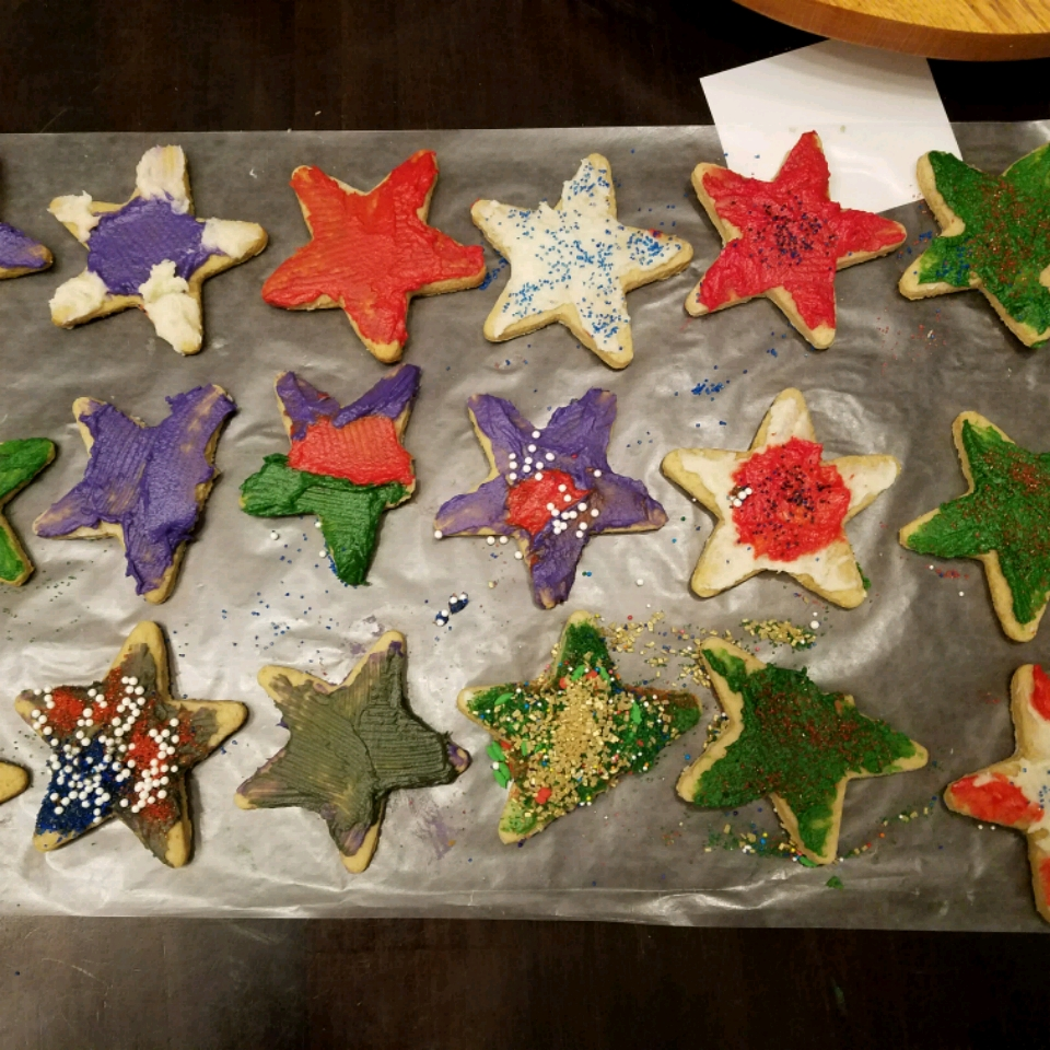 Brown Sugar Cut-Out Cookies and Icing Kim Hyatt