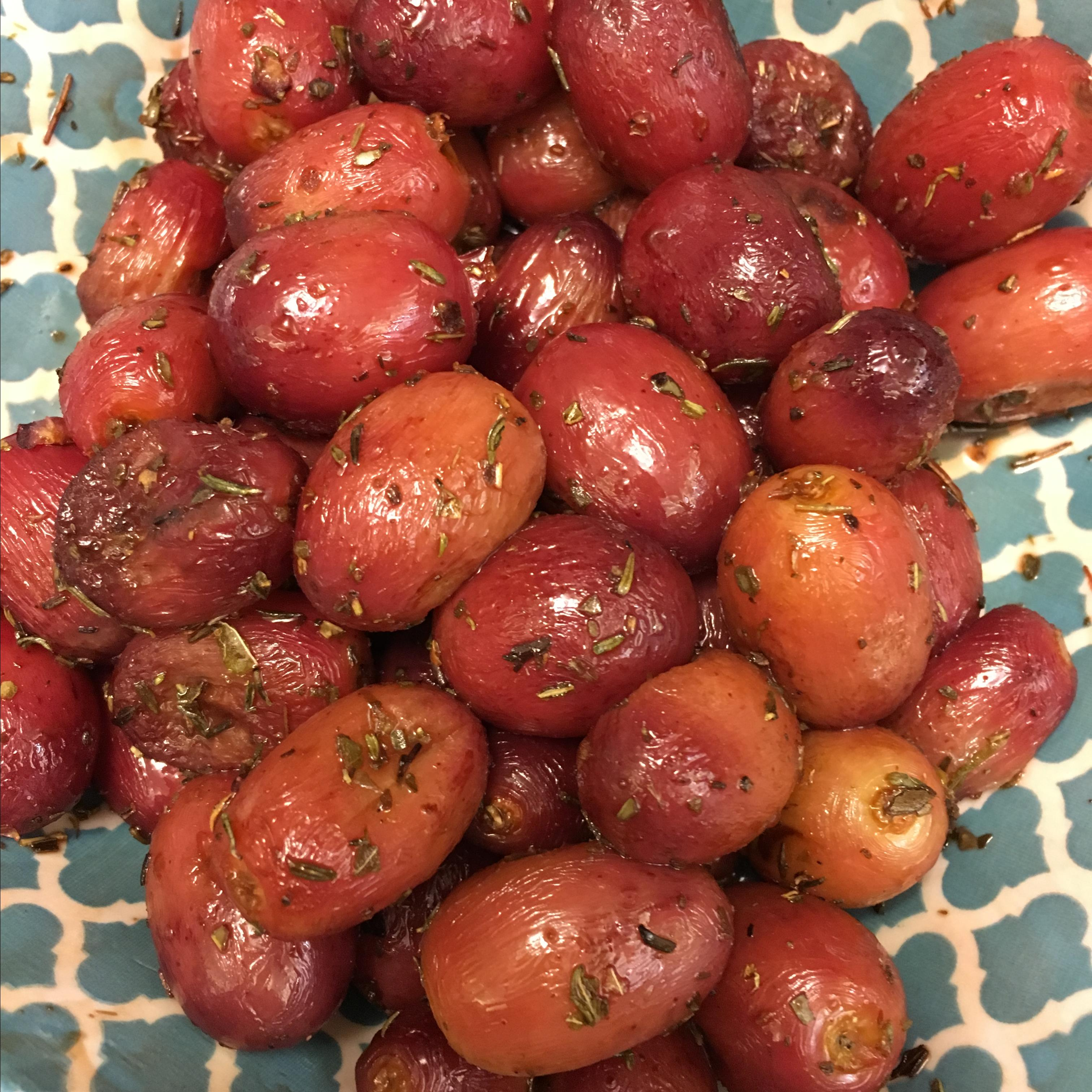 Balsamic Roasted Grapes Jody