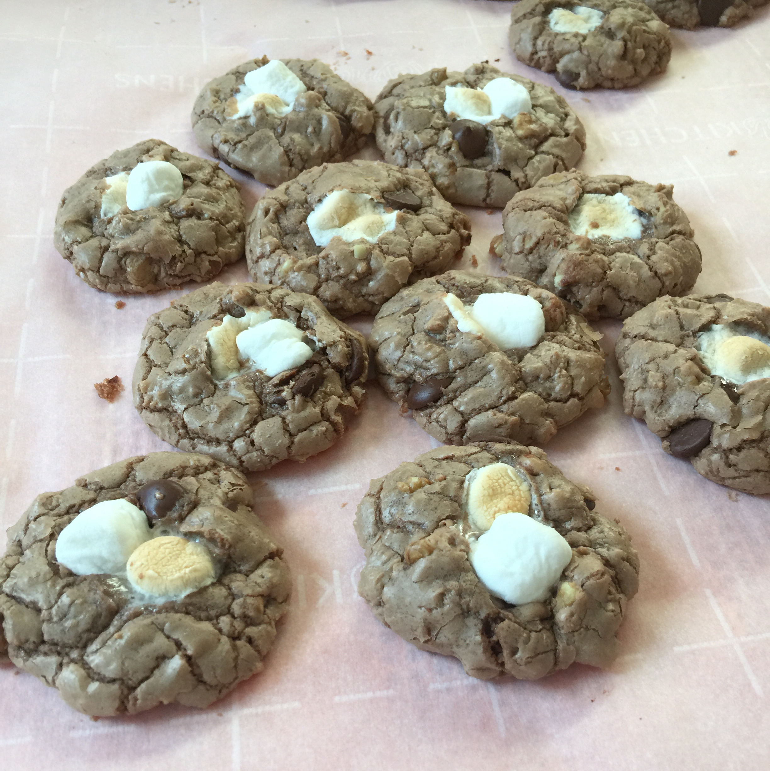 Chocolate Rocky Road Cookies gogrannnyjo