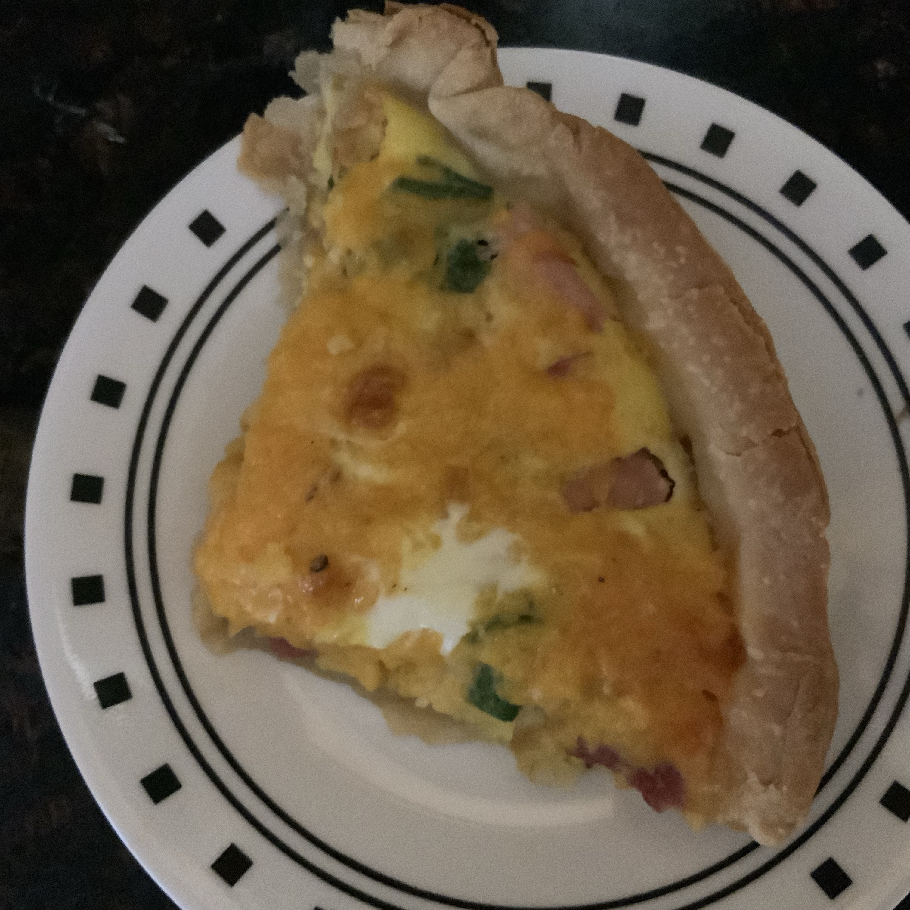 Becky's Healthier Ham and Cheese Quiche Traycee1234