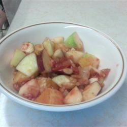 Strawberry-Sauced Crunchy Fruit Salad Josie