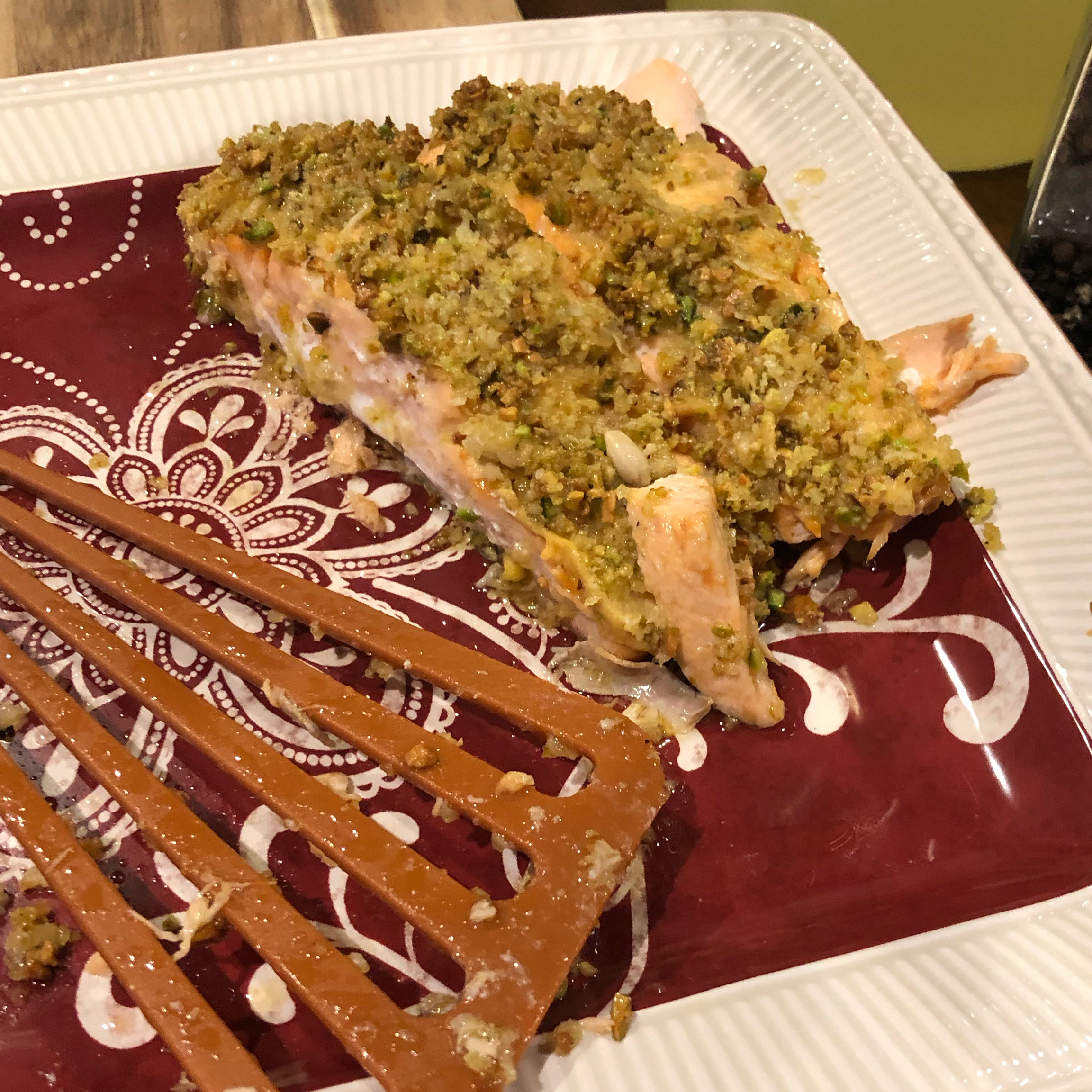 Pistachio-Crusted Salmon Karie Armstrong