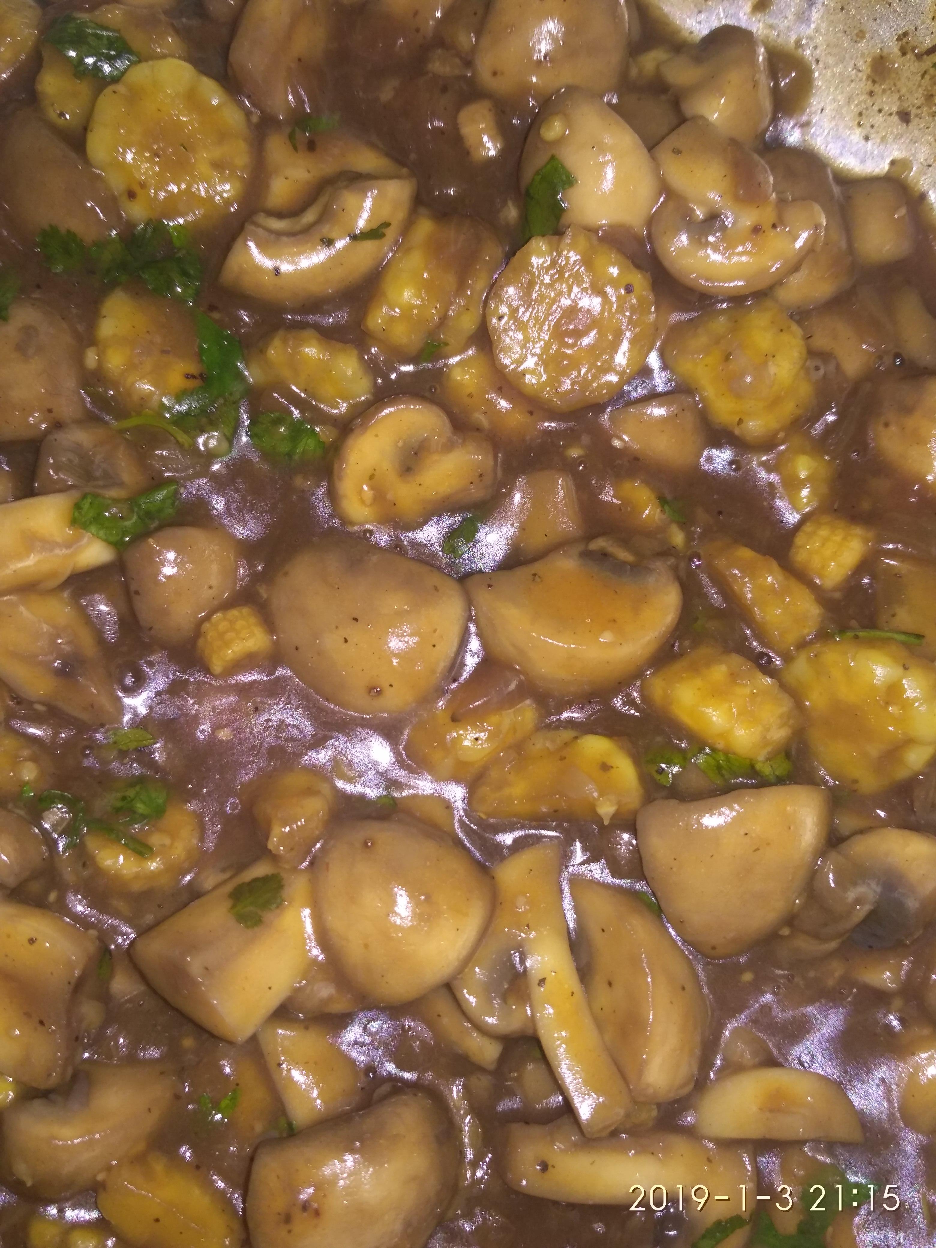 Stir-Fried Mushrooms with Baby Corn Gagandeep Kaur