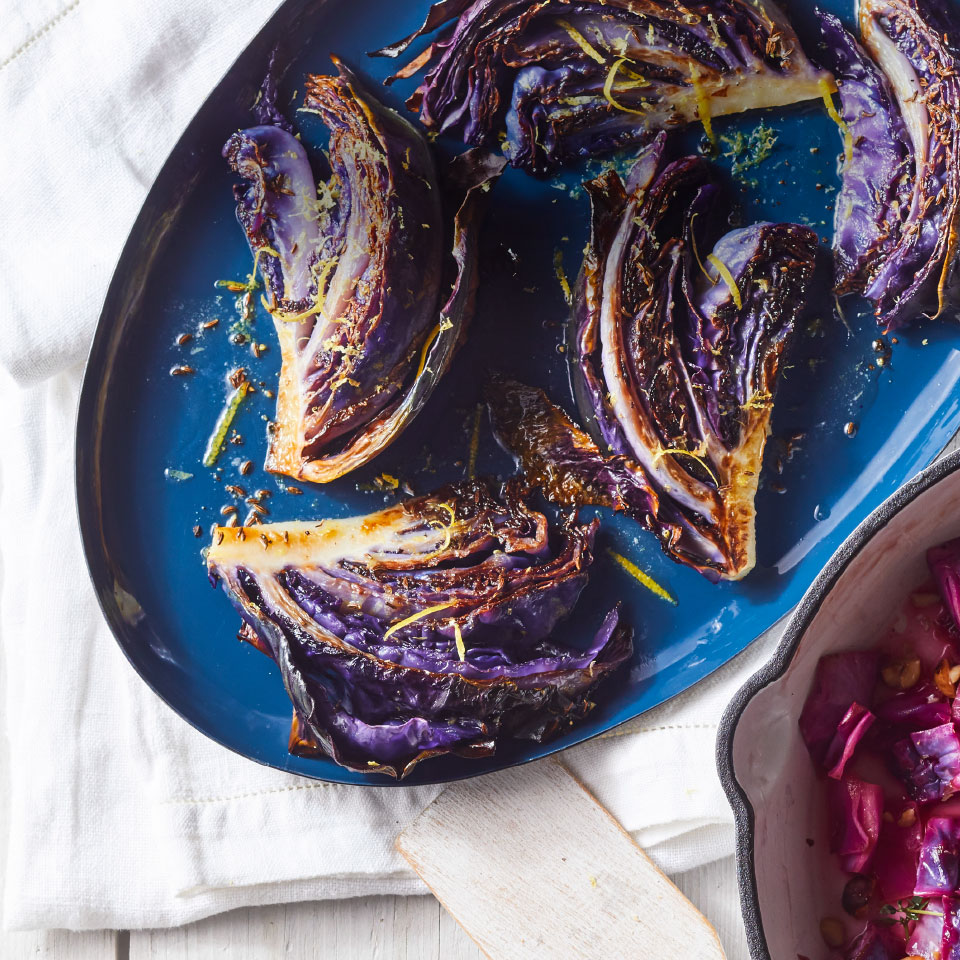 Roasting brings out the sweetness of cabbage in this healthy side dish recipe that tastes super-luxurious thanks to the melted butter on top. Source: EatingWell Magazine, January/February 2019
