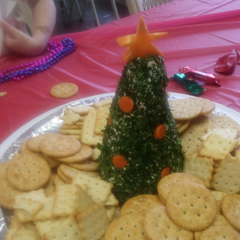 Cream Cheese, Havarti, and Parmesan Herbed Christmas Tree