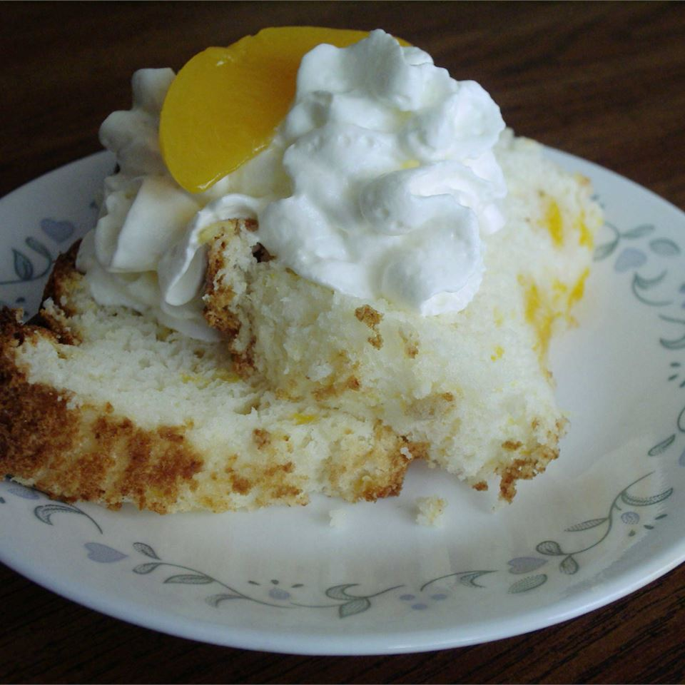 Peach Angel Food Cake Amy Brolsma