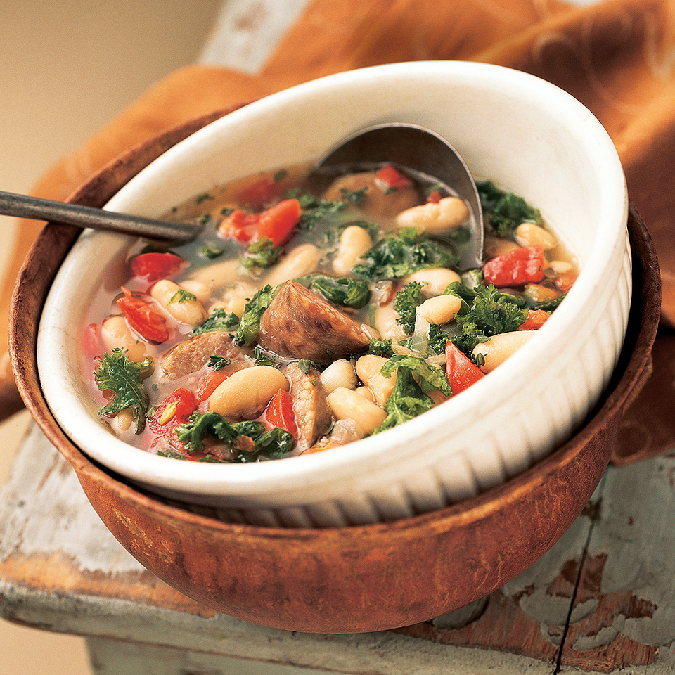 White Bean-Sausage Soup Diabetic Living Magazine
