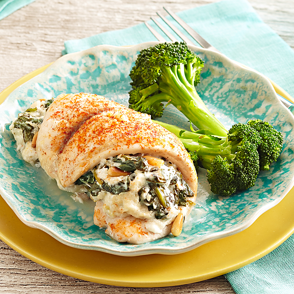 This recipe is a fun and eye-catching way to serve tilapia fillets. Stuffed with a mouthwatering mixture of fresh spinach, creamy goat cheese, Greek yogurt, and lemon zest, each bite of these stuffed tilapia rolls is guaranteed to please everyone at your table.