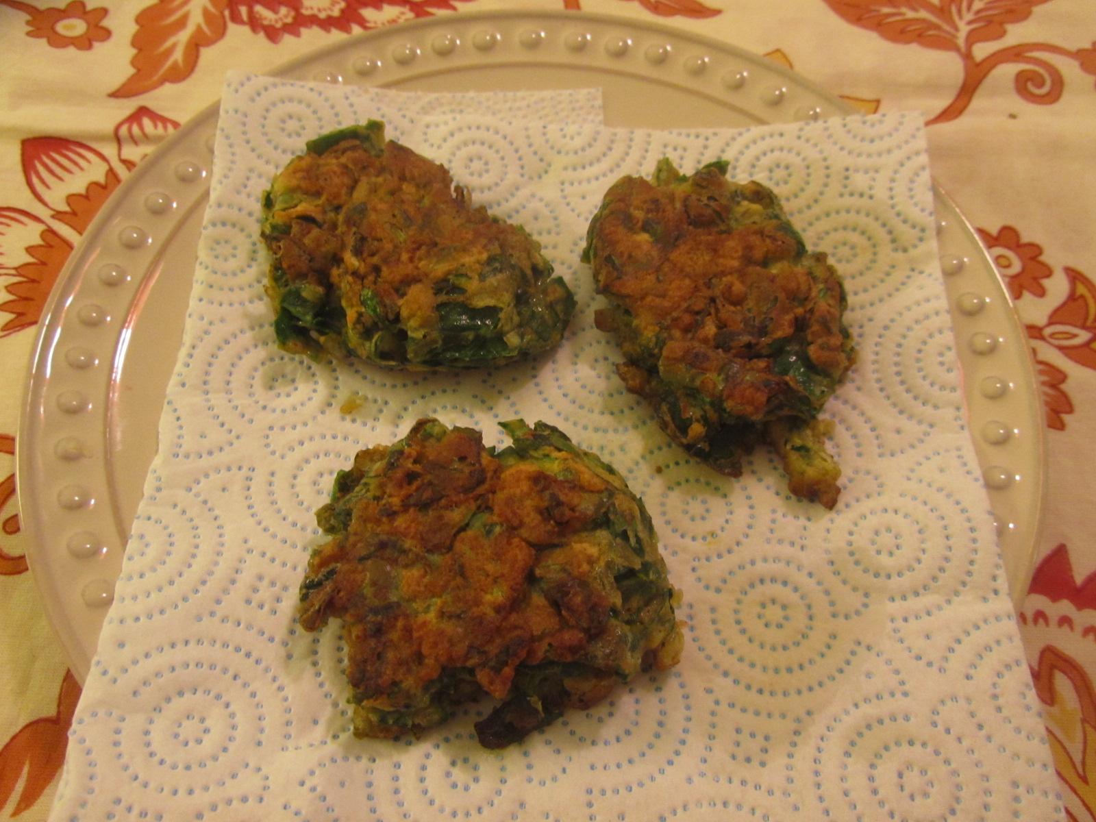 Bunuelos de Espinaca (Spinach Fritters) Liza
