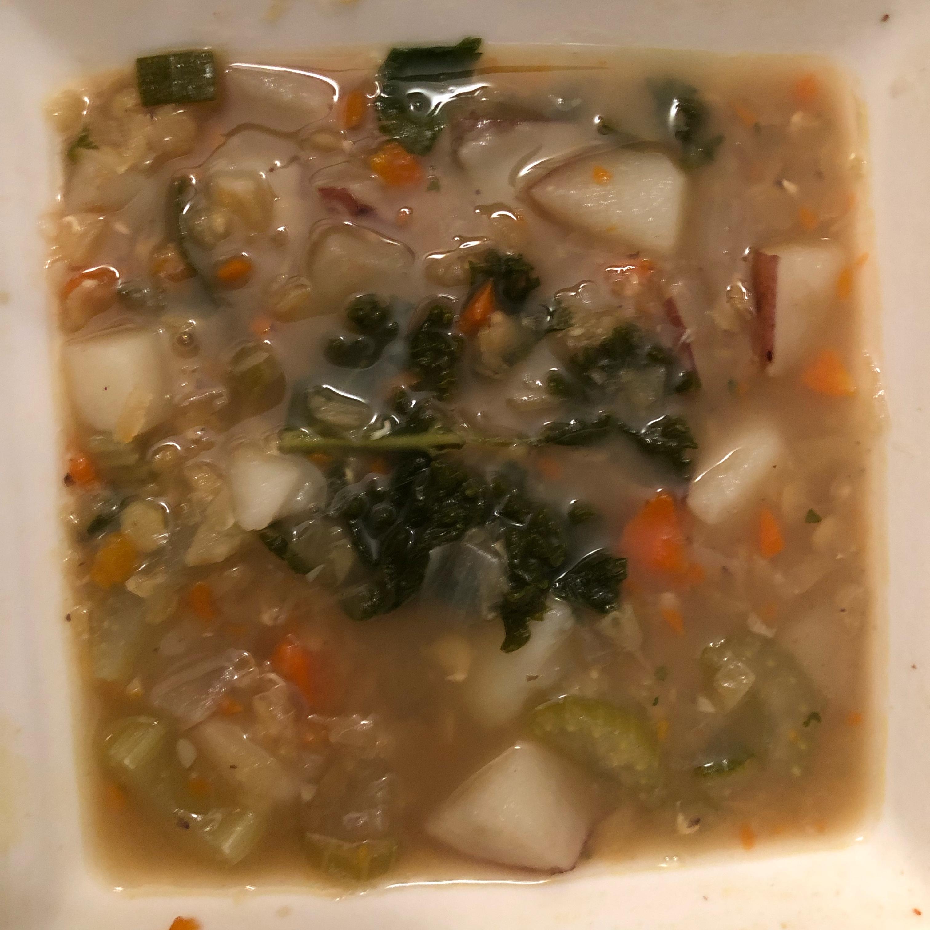 Ruth's Red Lentil and Potato Soup PreciousVeal