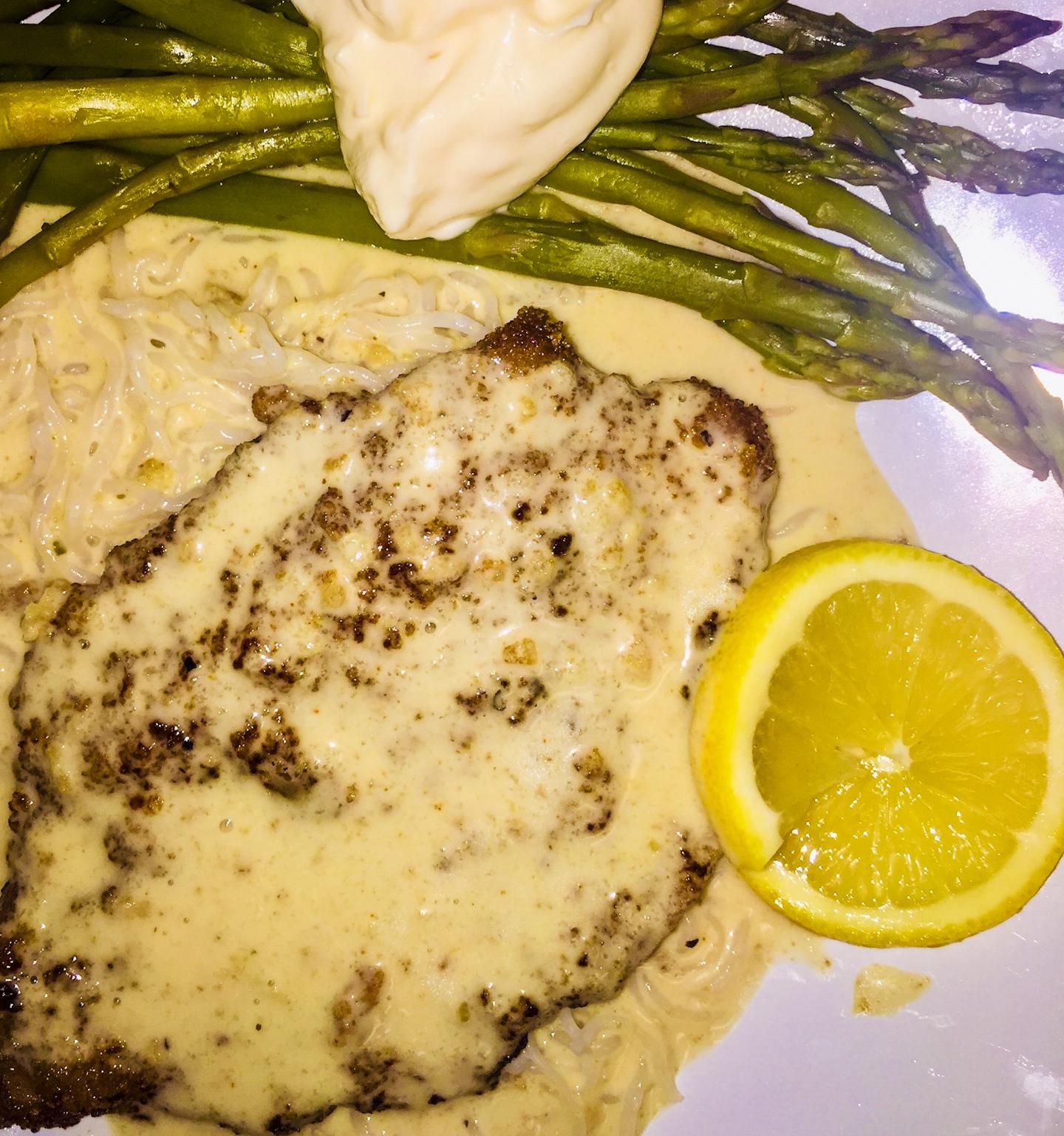 Veal Scaloppini with Lemon Cream Sauce Ellen Marie Herring Walley