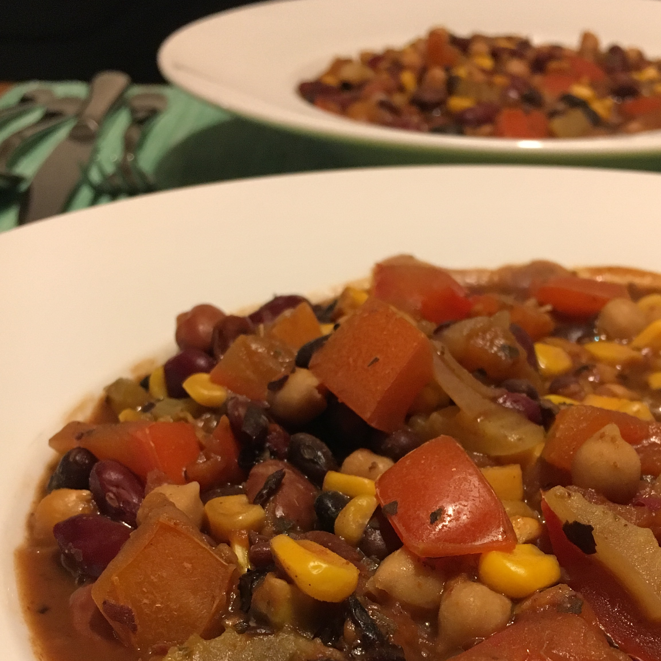 Grandma's Slow Cooker Vegetarian Chili