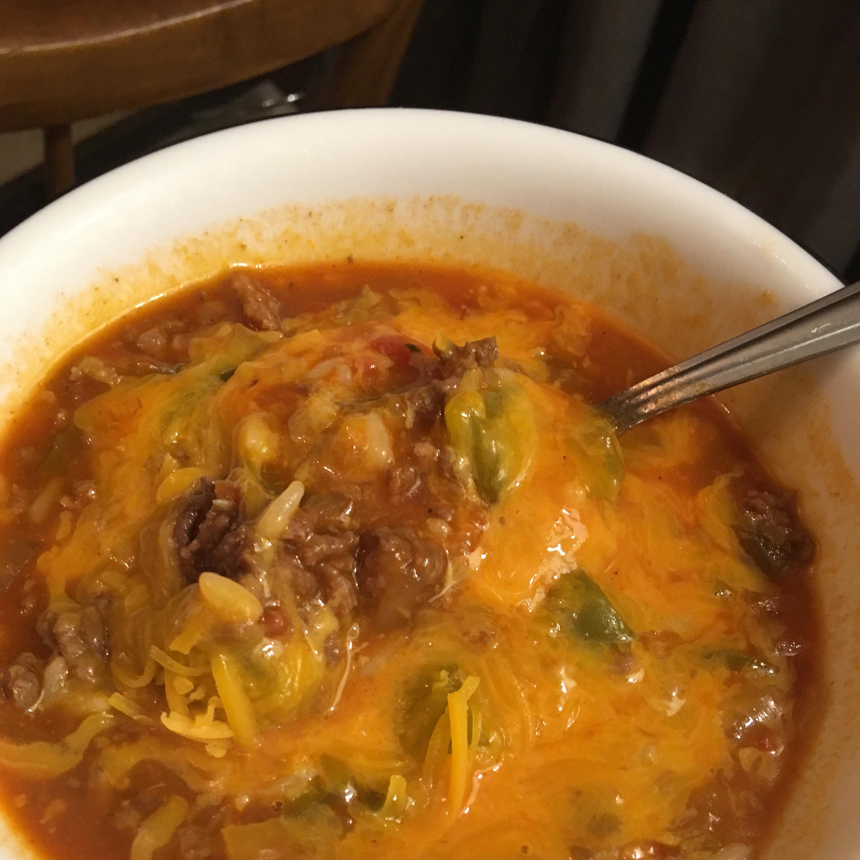Unstuffed Pepper Soup