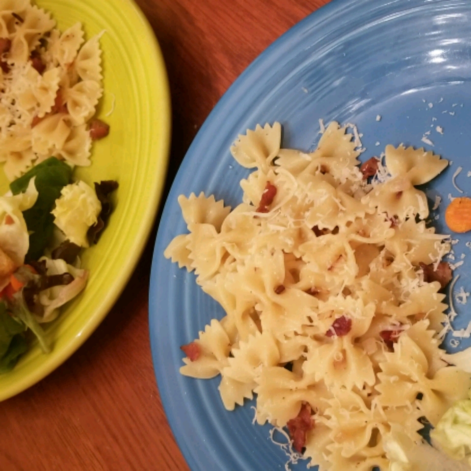 Bacon and Parmesan Penne Pasta