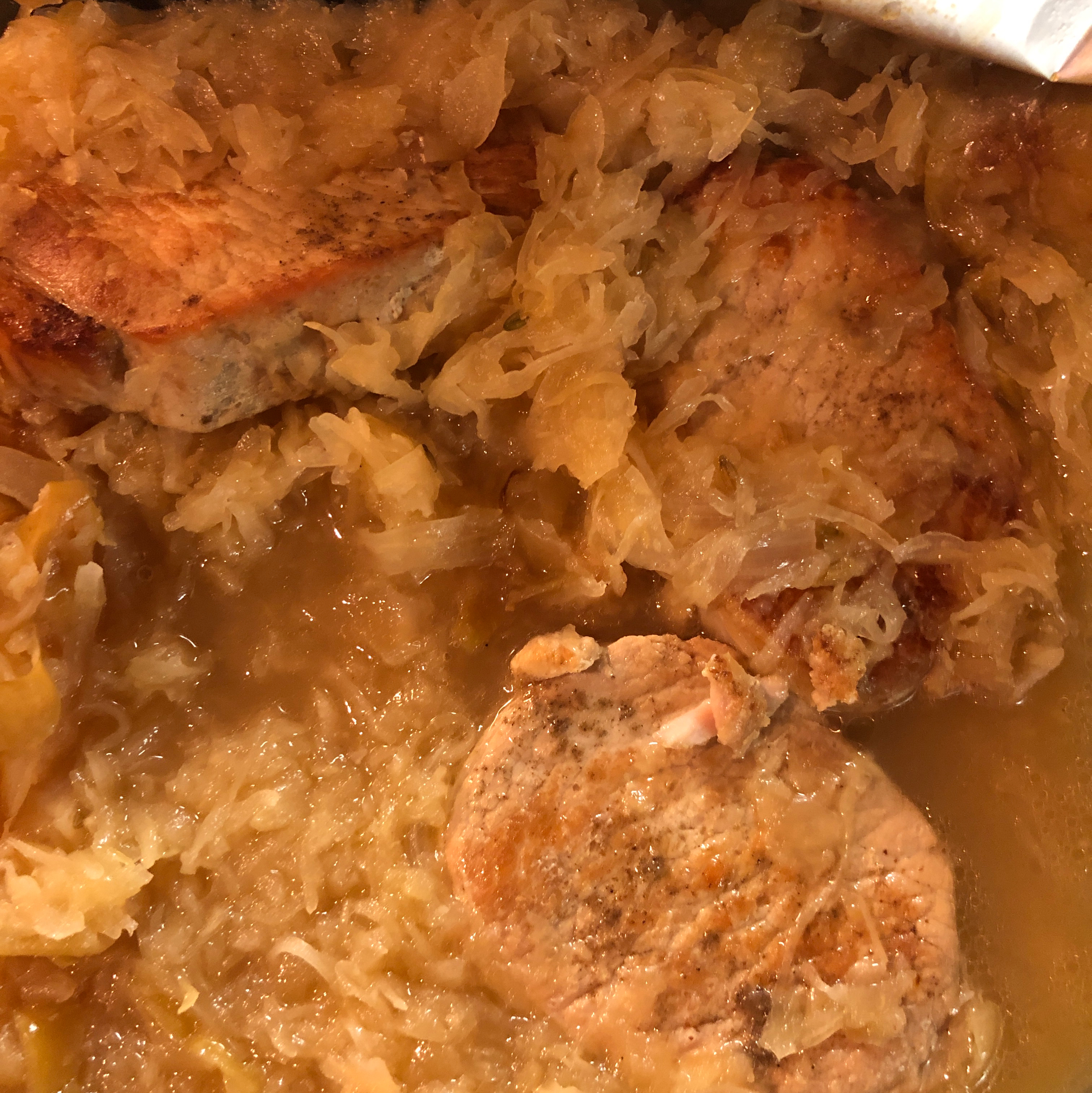 Slow Cooker Pork and Sauerkraut with Apples j-wats