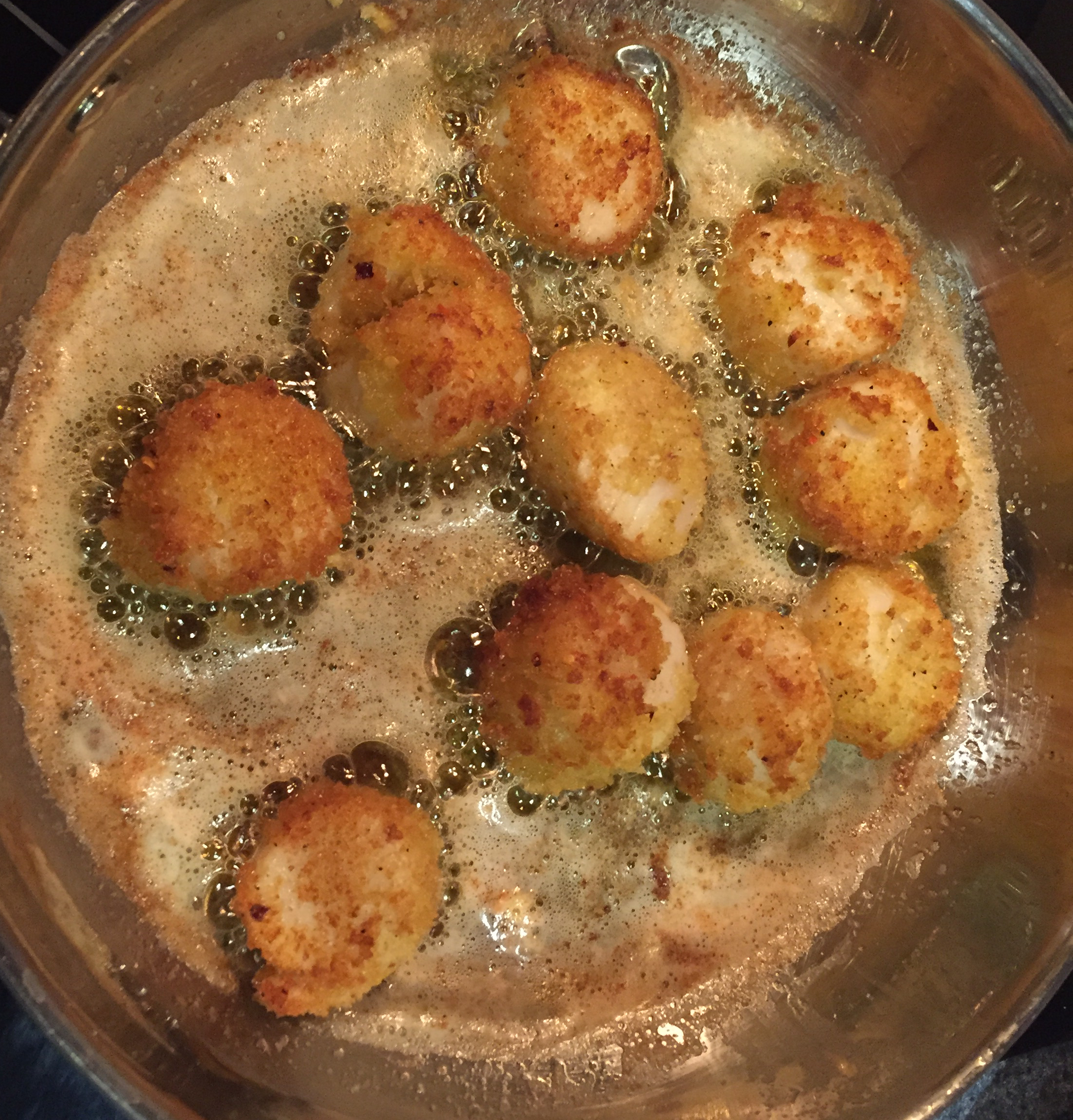 Breaded and Fried Scallops