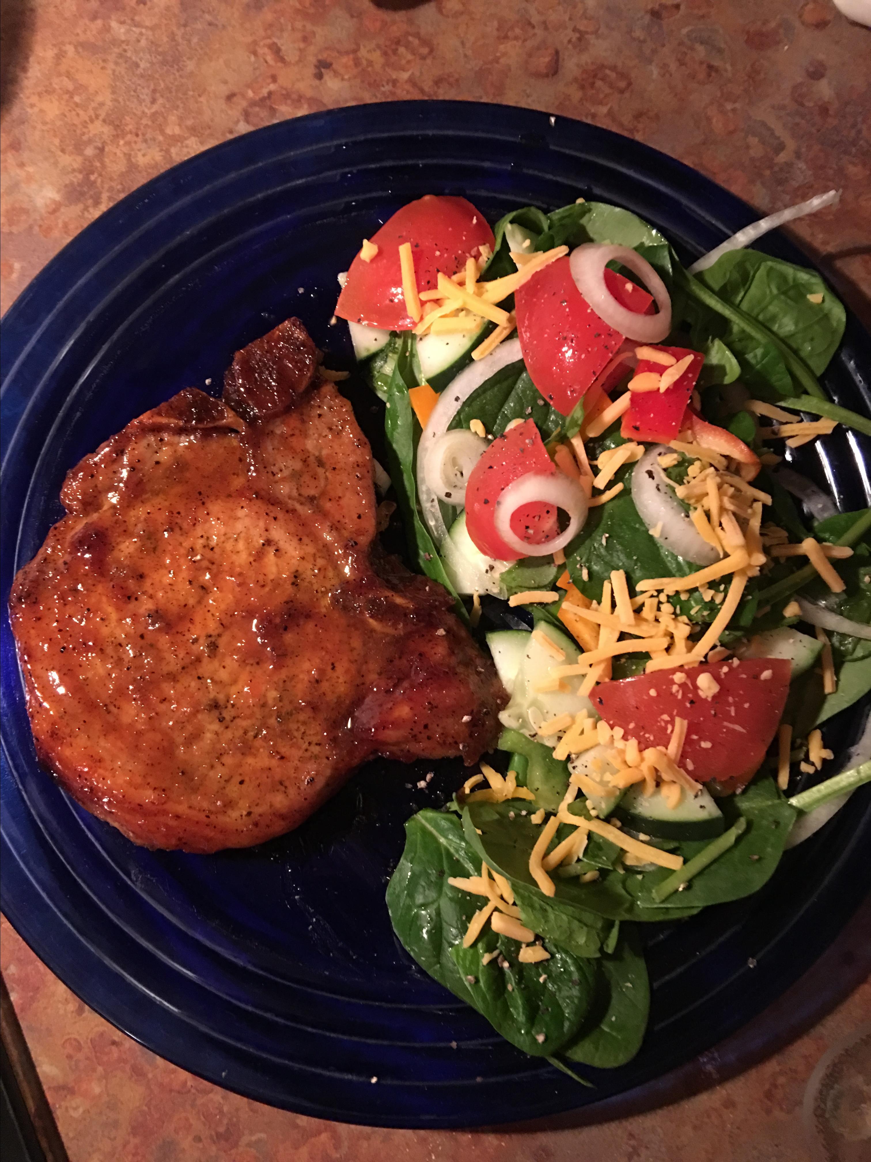 Marinated Baked Pork Chops delightfulladee