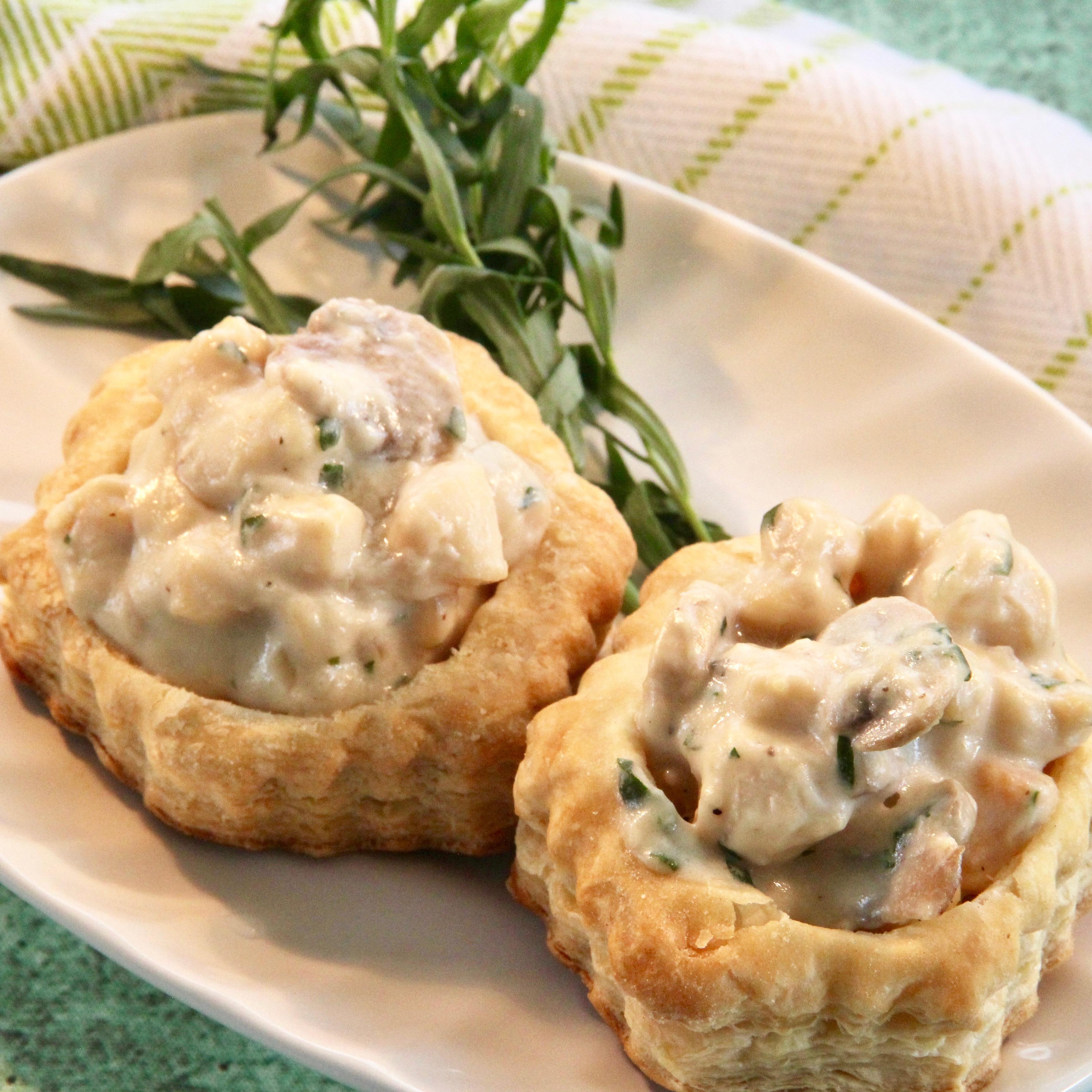 Cheesy Bay Scallop Puff Pastry Shells